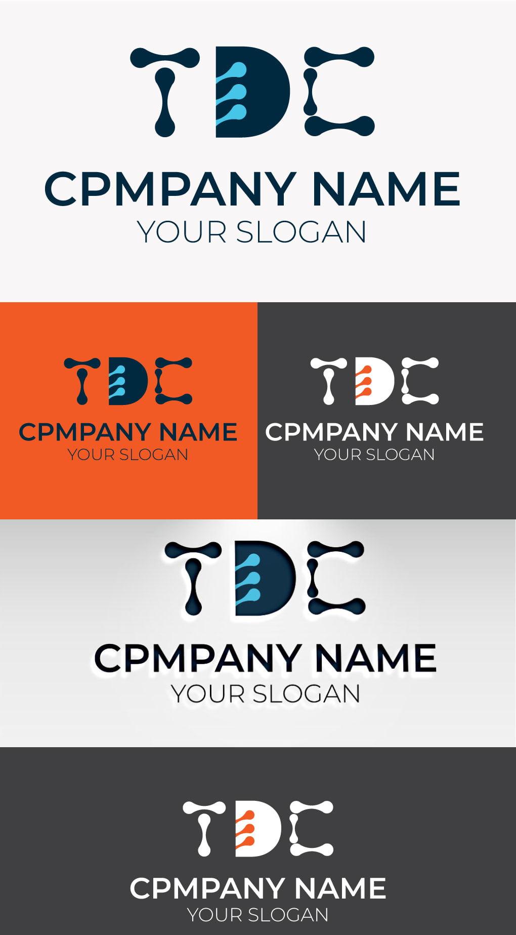 tdc tech logo template
