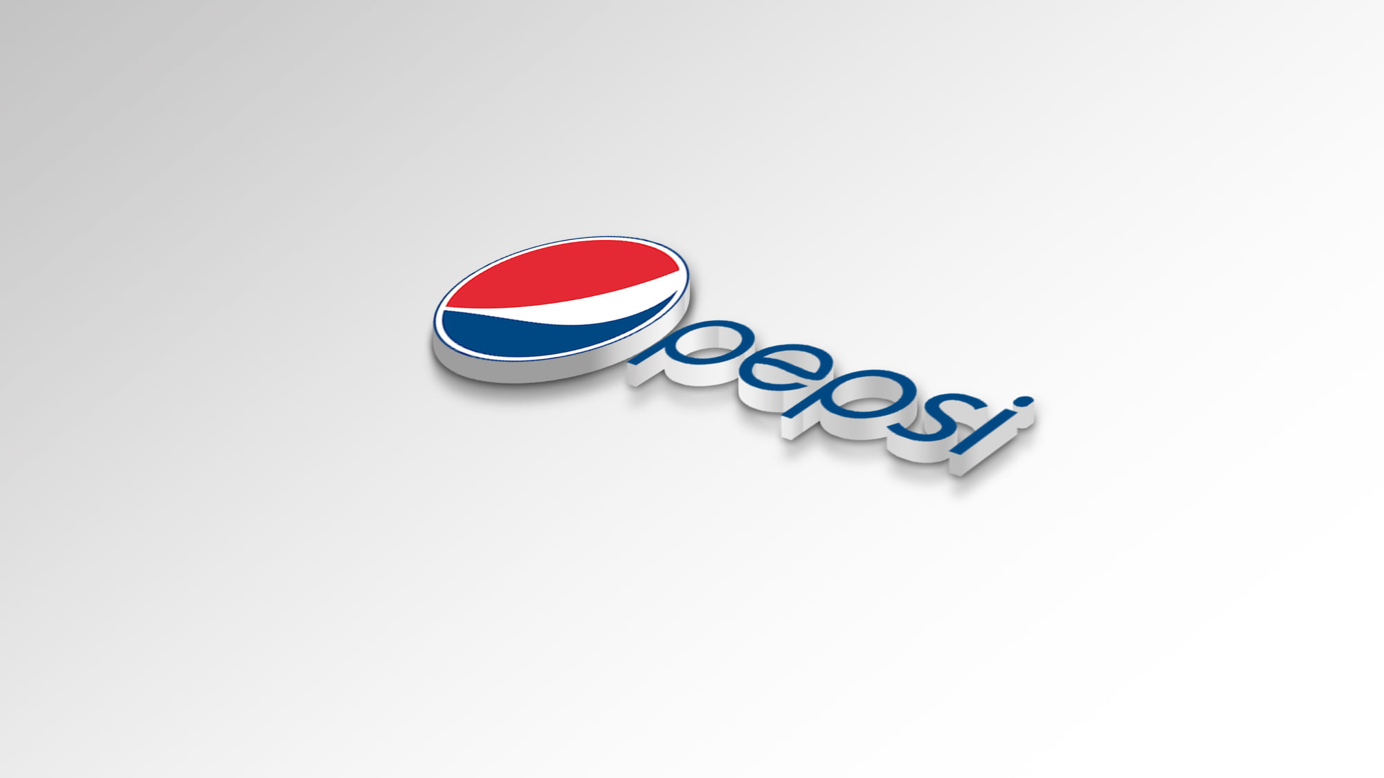 3d Pepsi Logo white mockup