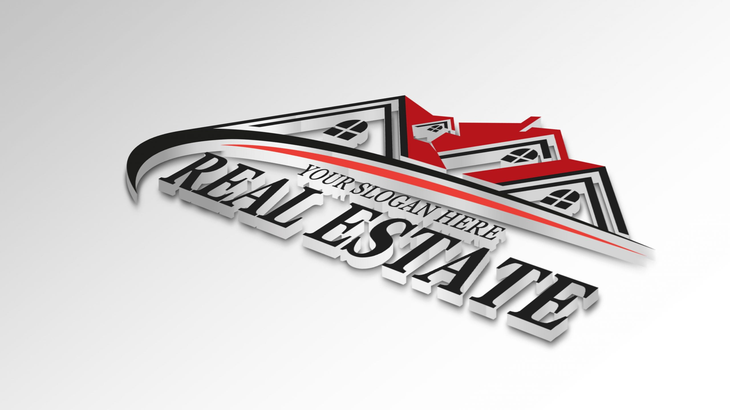3d Real Estate logo on white paper