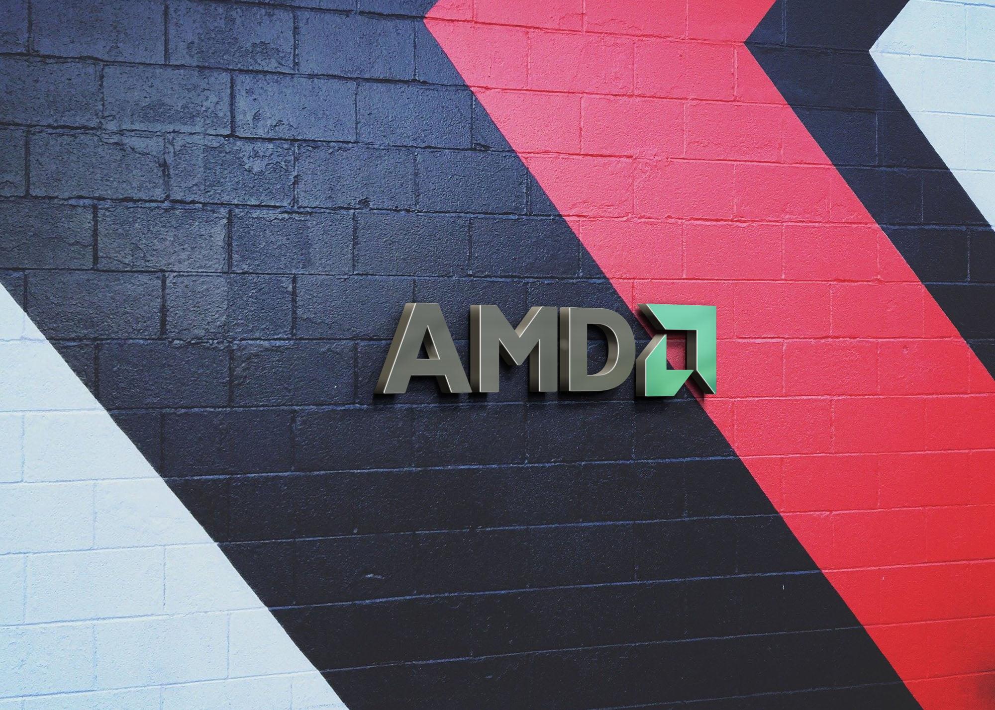 AMD 3d metal on wall