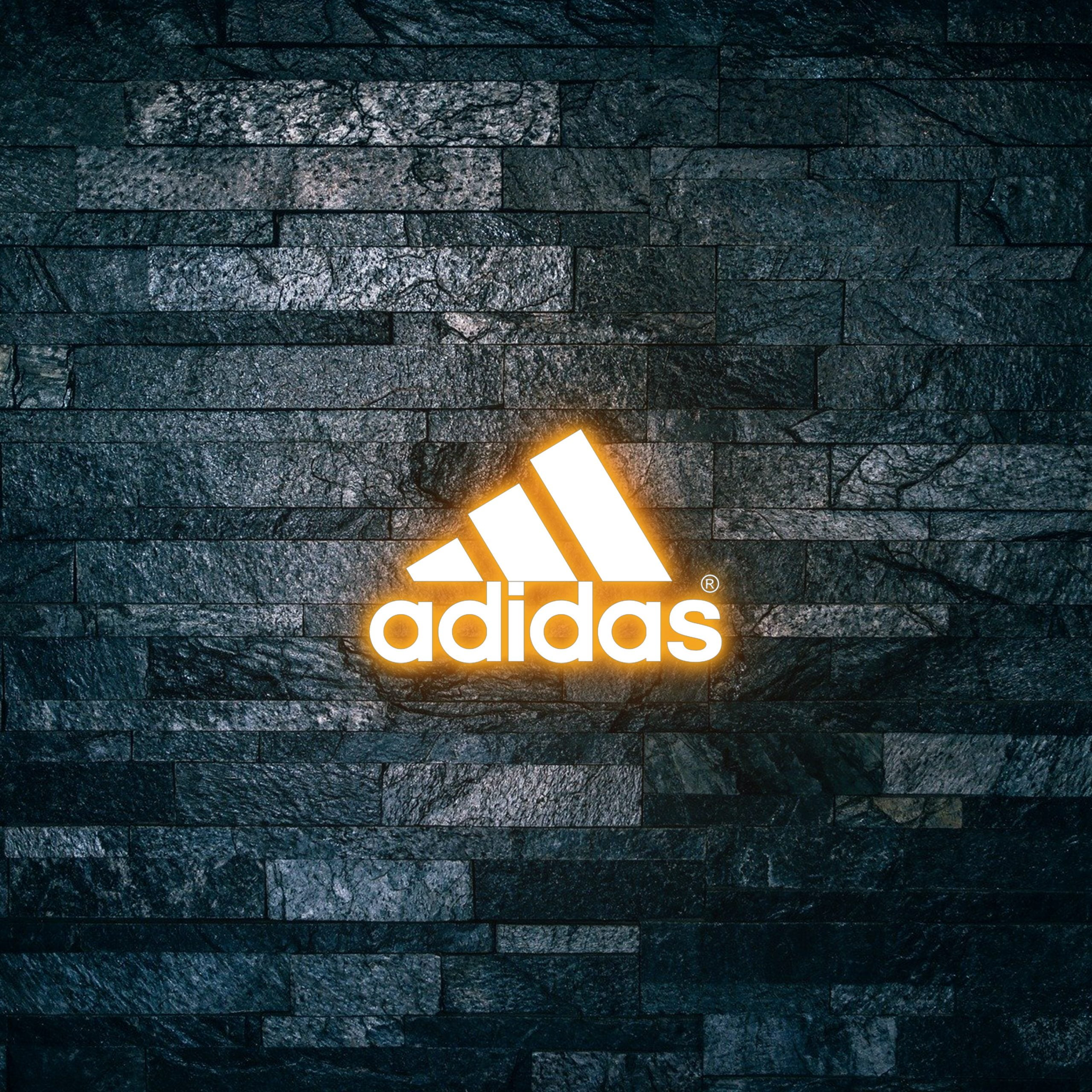 Adidas Logo on Light text effect 3d mockup