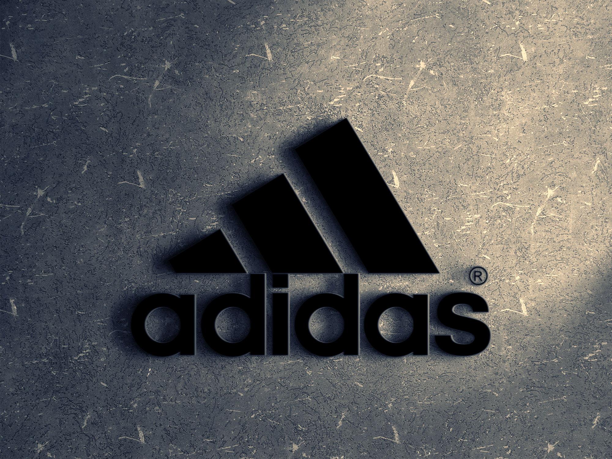 Adidas logo 3d wall mockup