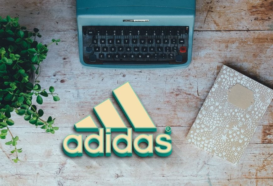 Adidas-logo-on-wood