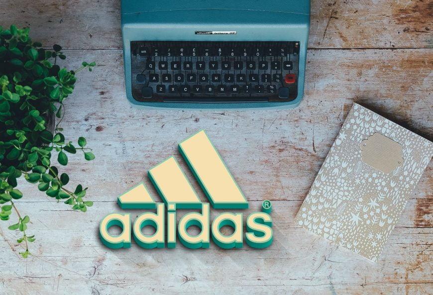 Adidas-logo-on-wood