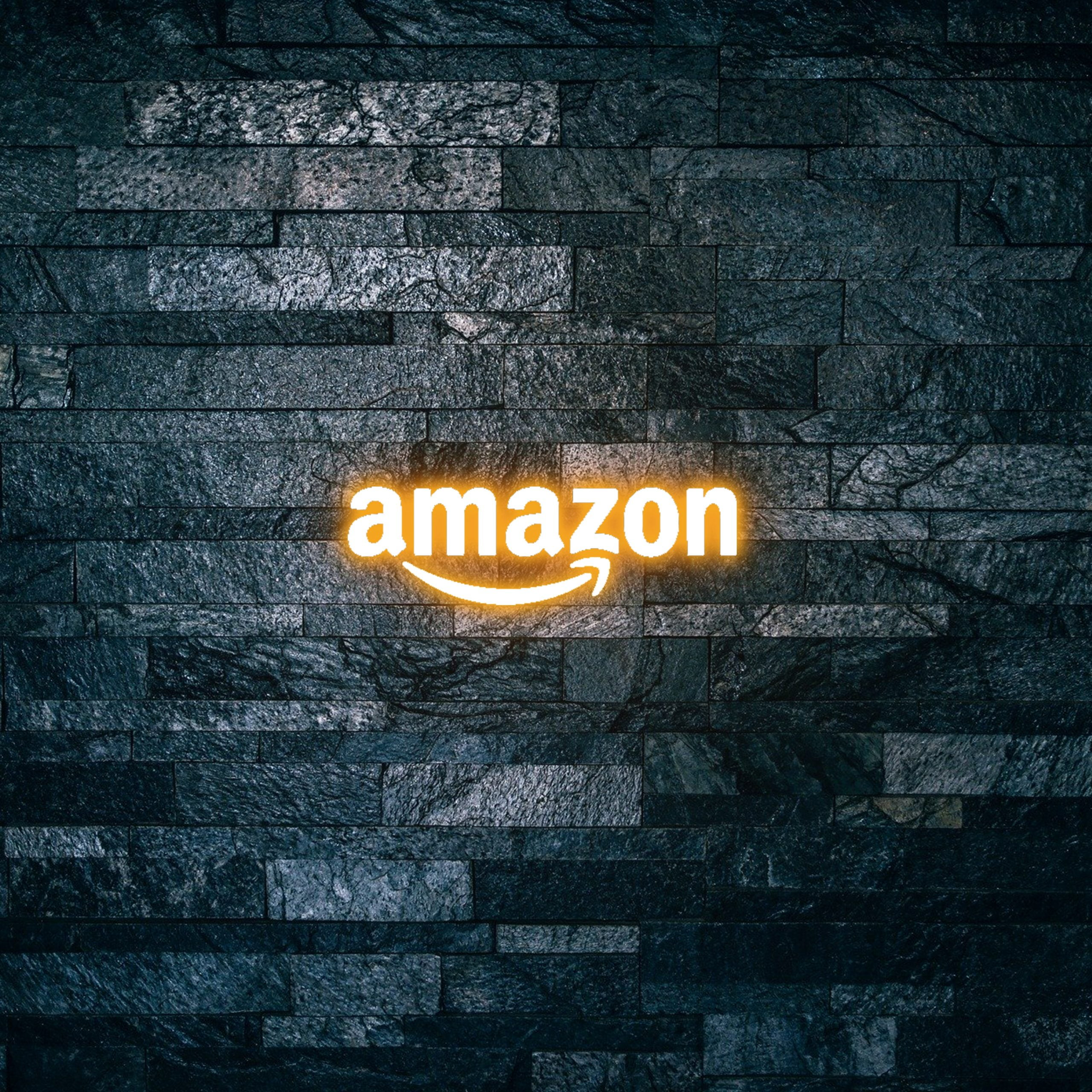 Amazon Logo on Light text effect 3d mockup