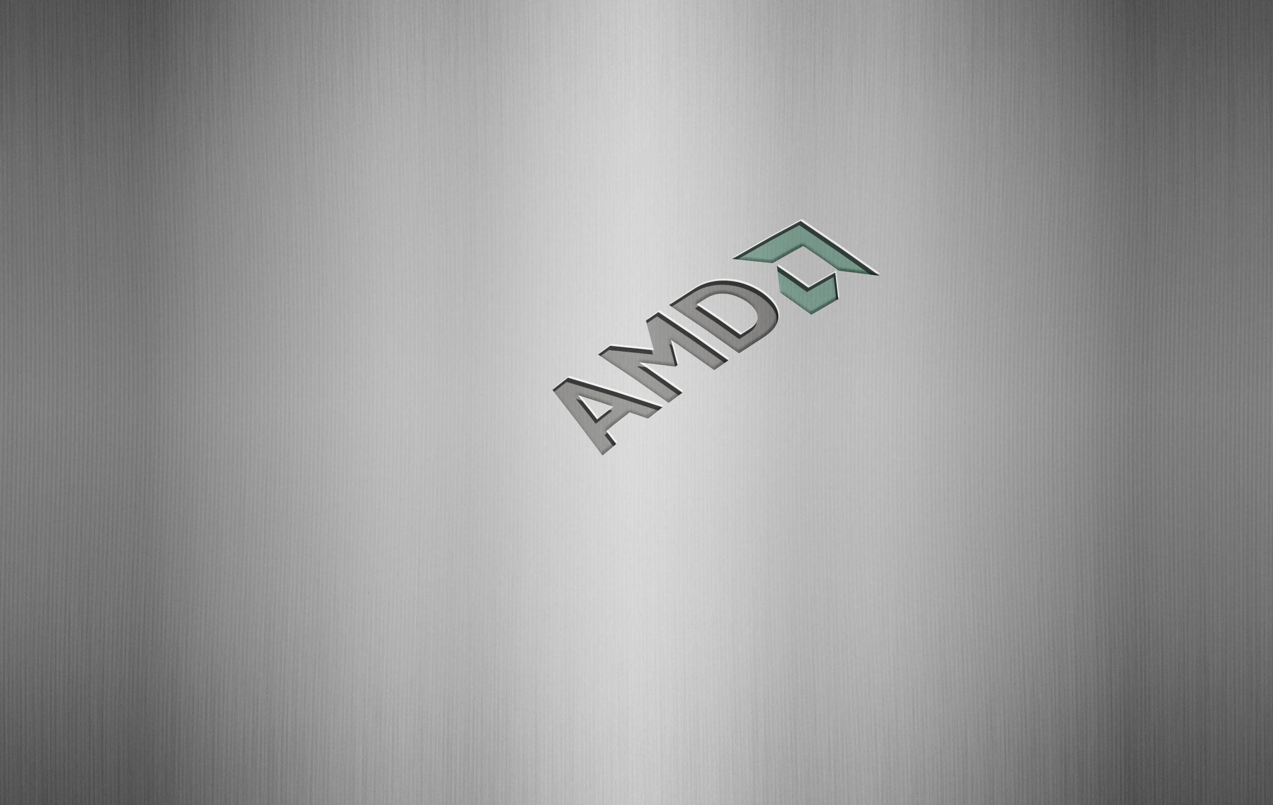 Amd Steel Logo Mockup