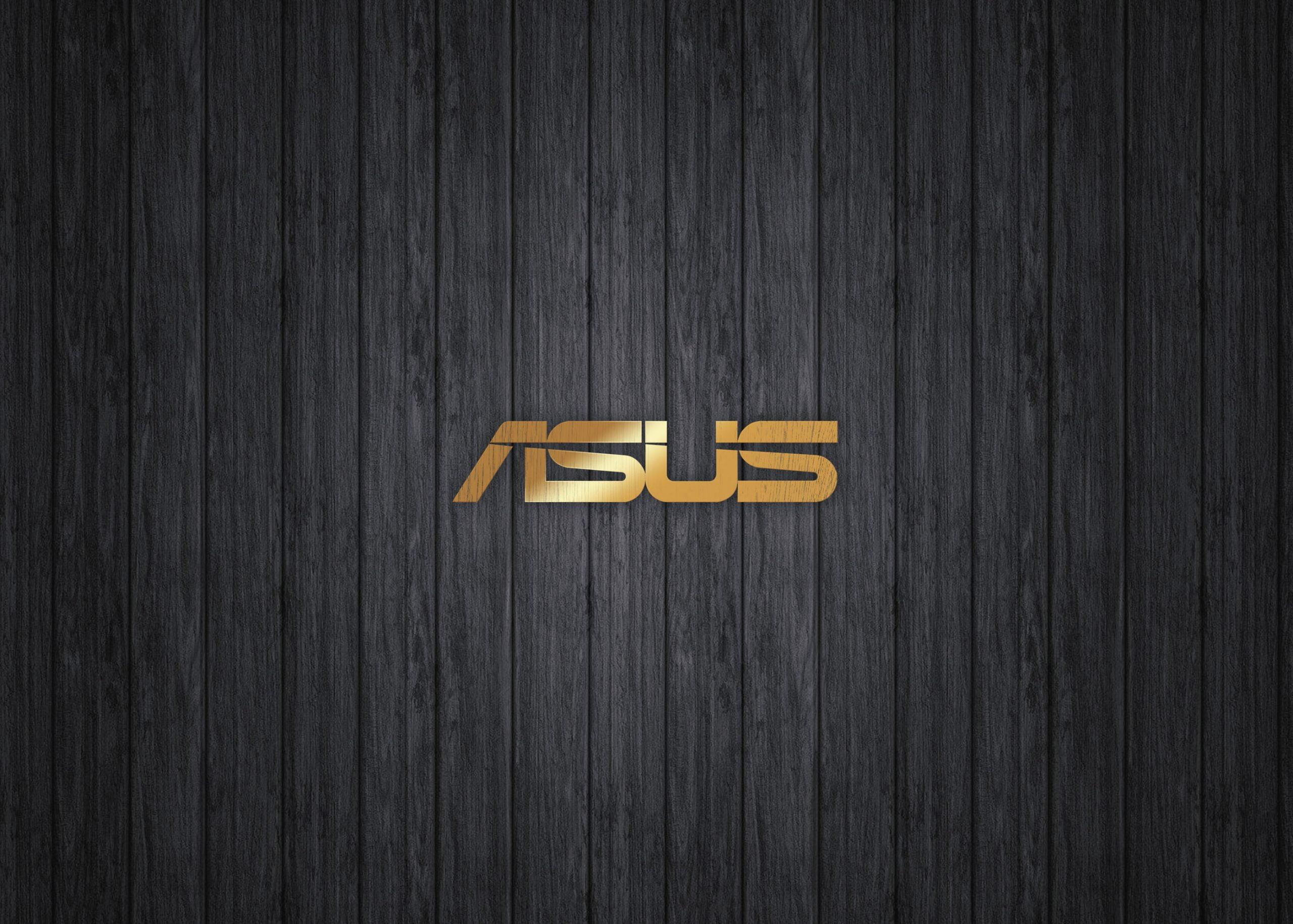 Asus Logo on luxury gold mockup