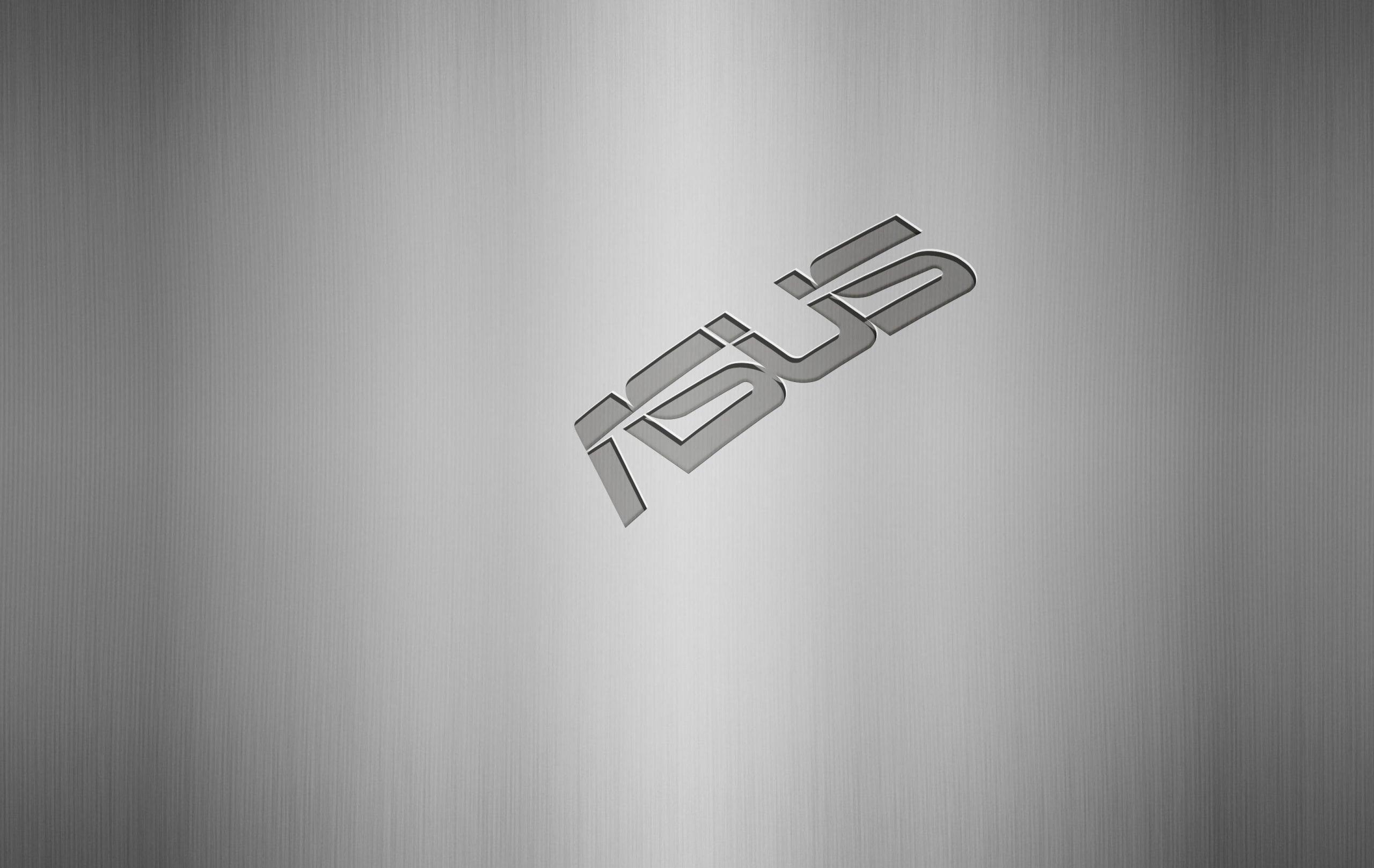 Asus on Steel Logo Mockup