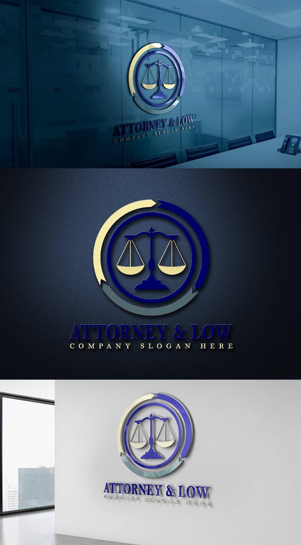 Attorney & Law Logo Design Template