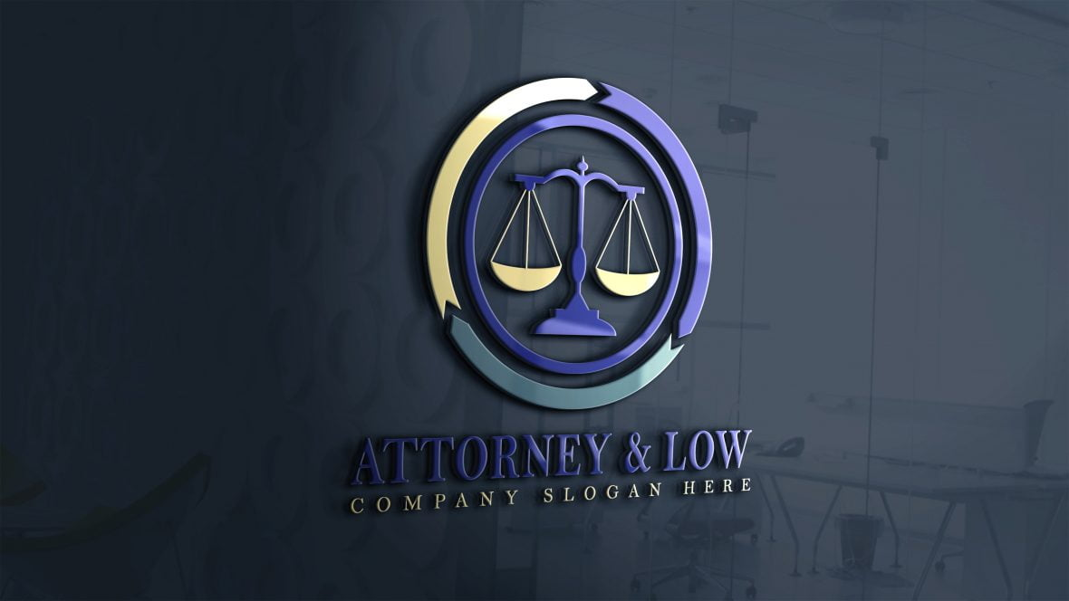 Attorney-Law-Logo-Design-on-3d-glass-window-scaled