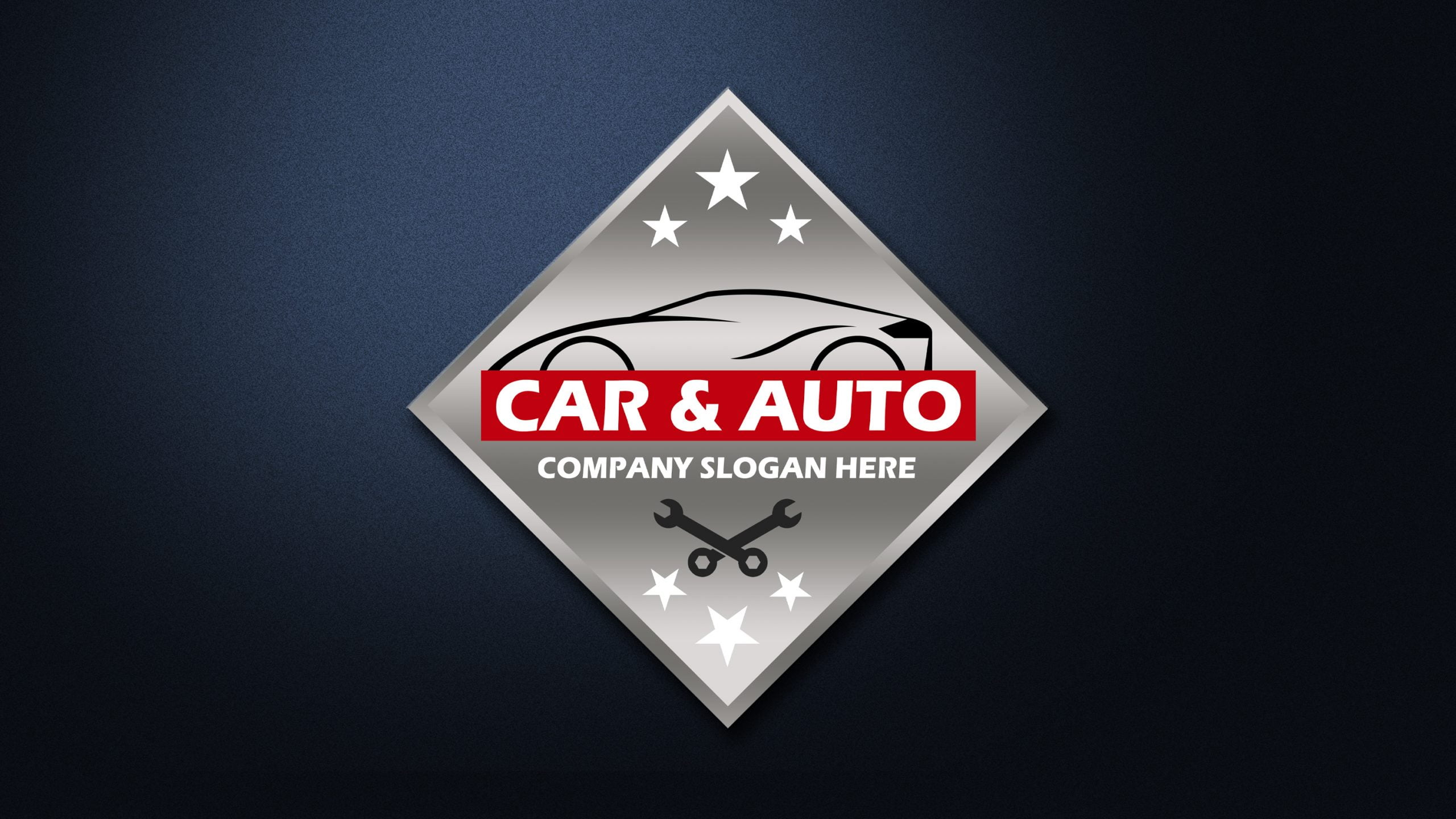 Auto repair Car Logo design psd