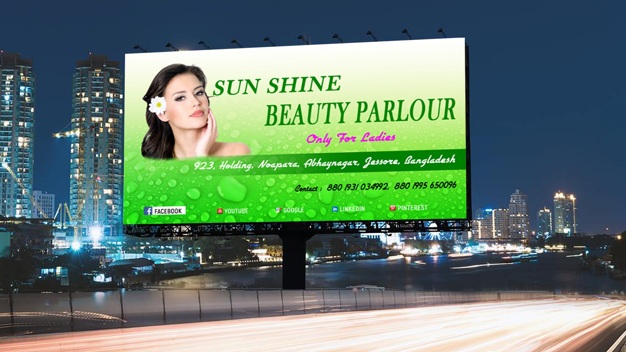 Free Photoshop Ladies Business Billboard Banner Design