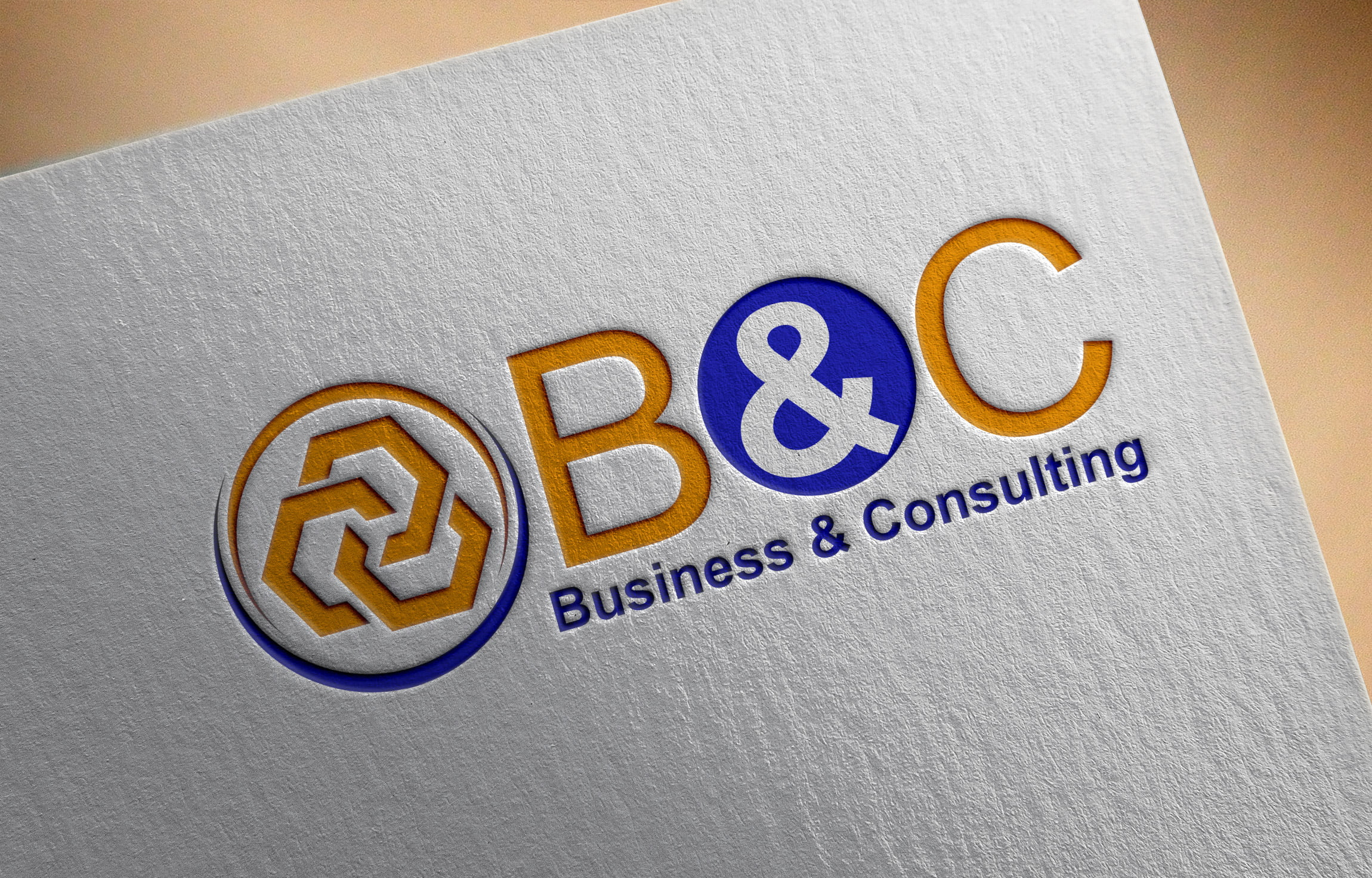 Business consulting logo Design on Paper mockup