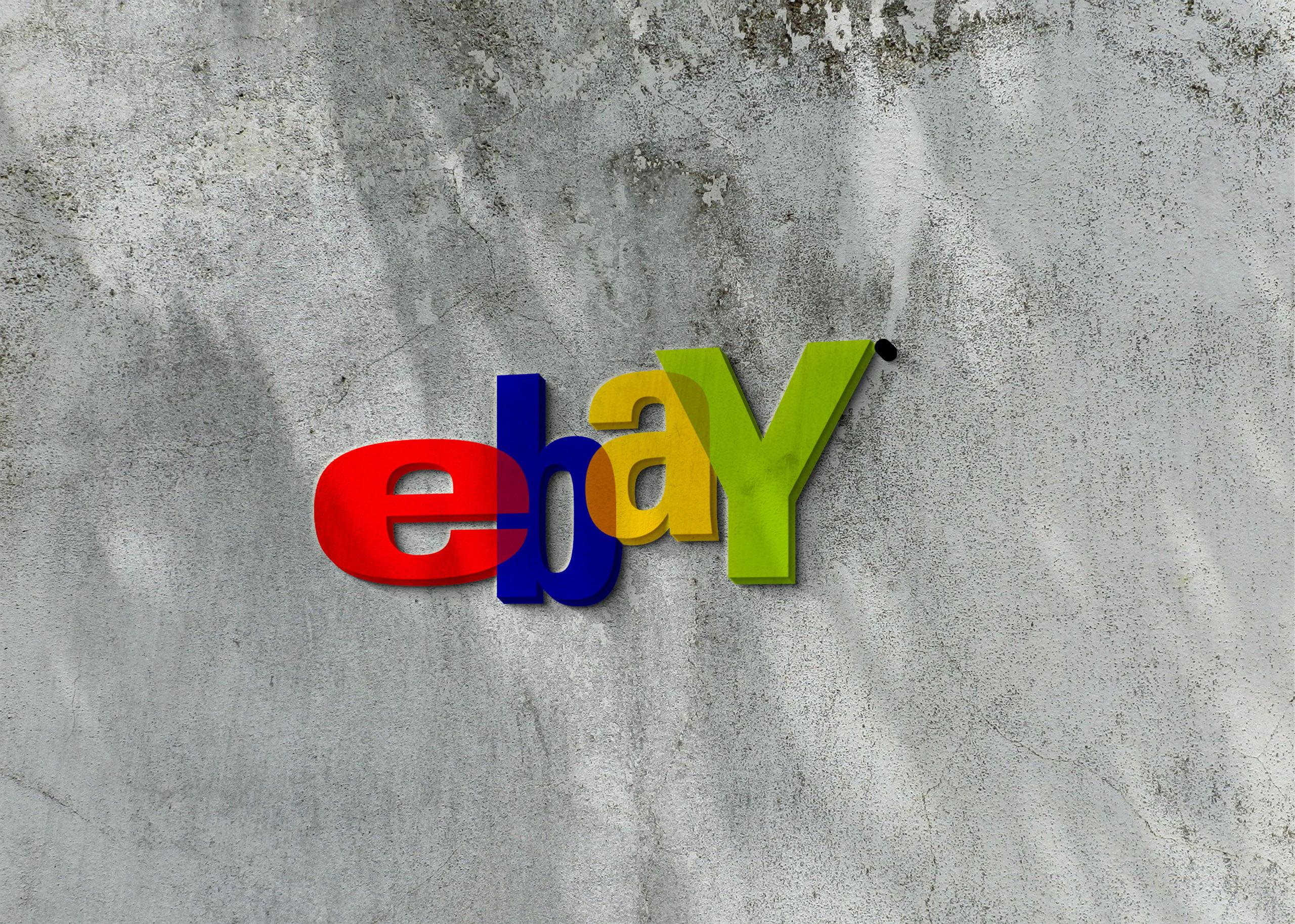 Ebay logo on 3d wall