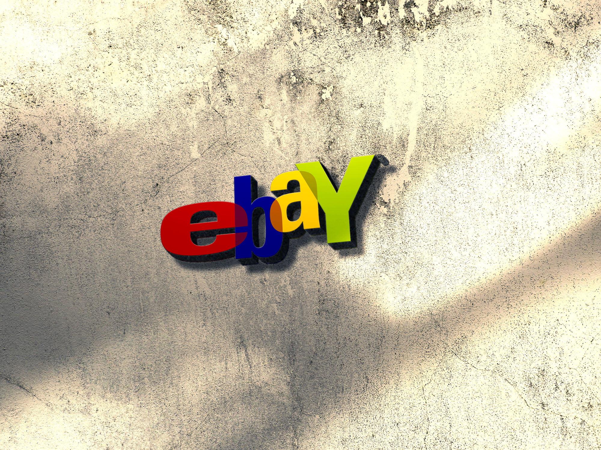 Ebay on3d wall mockup