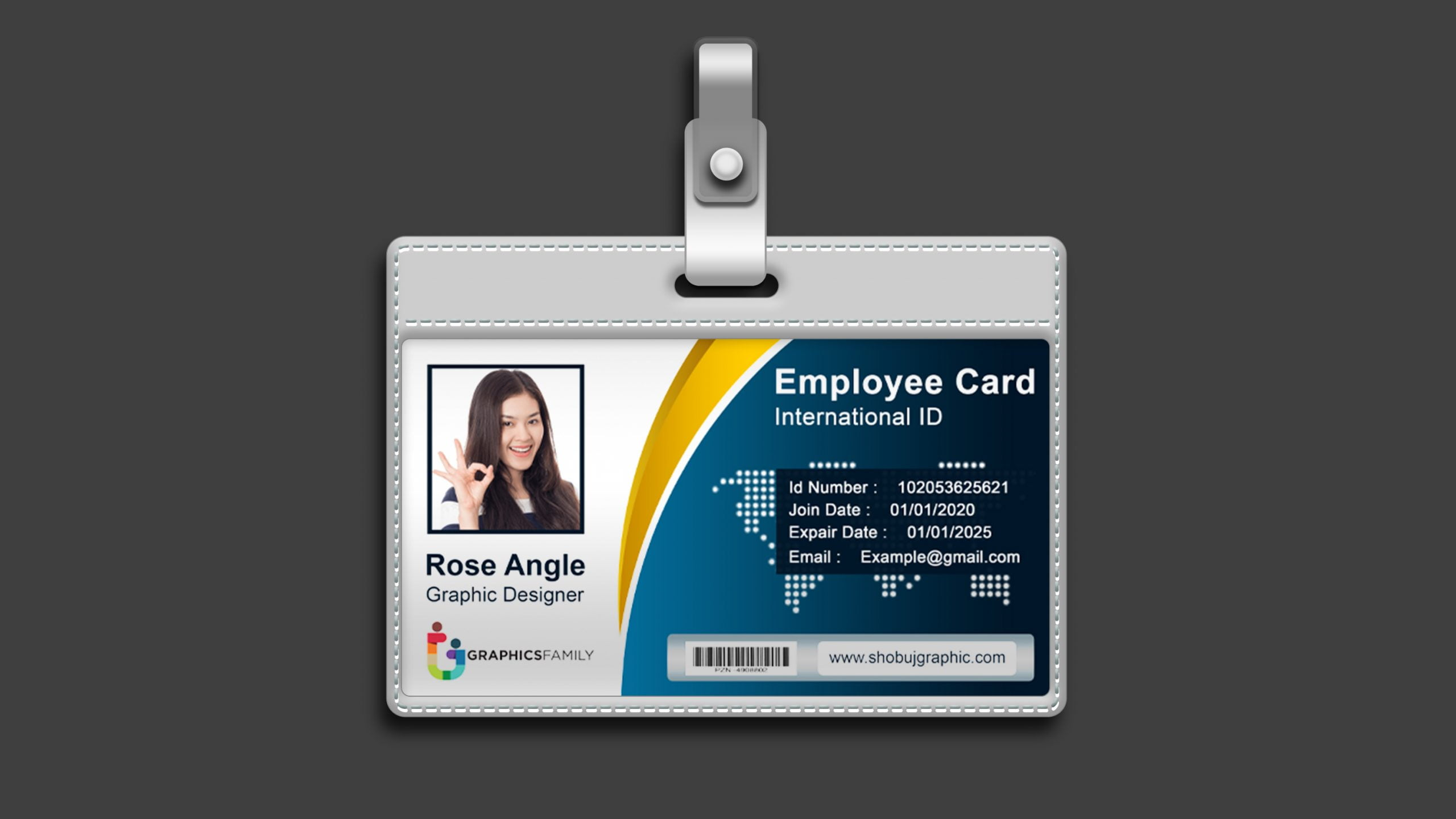 View 35+ View Employee Id Card Design Template Free ...