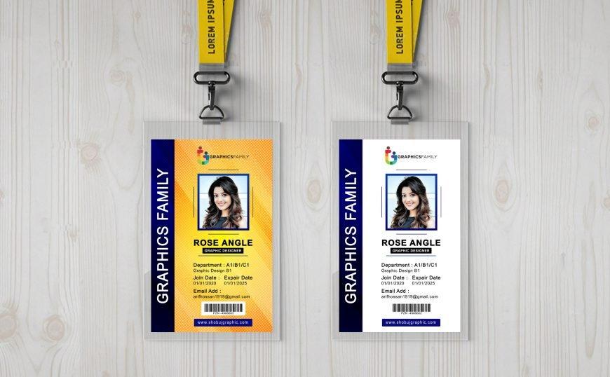 Employee-Vertical-Id-Card-Design