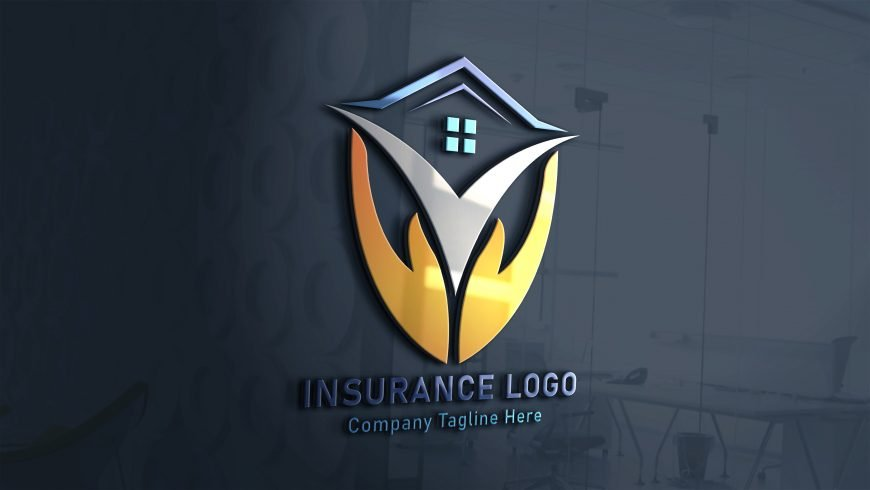 Finance-Insurance-Logo-Design-on-3d-glass-window-scaled