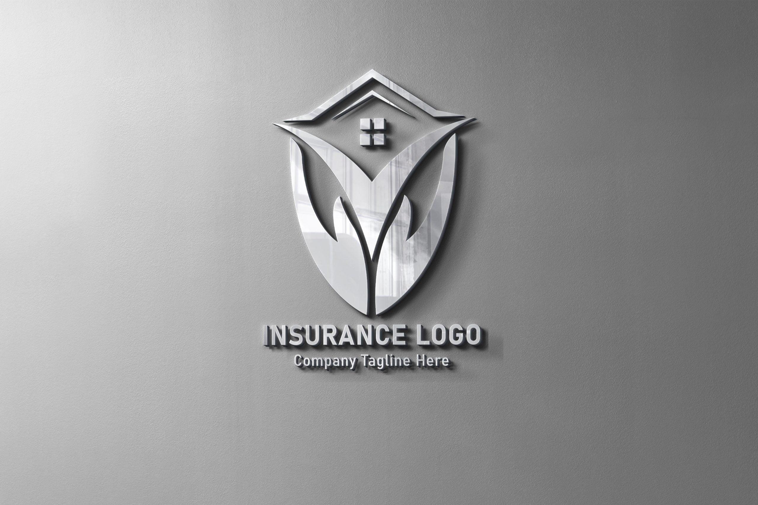 Finance & Insurance Logo Design on metal wall