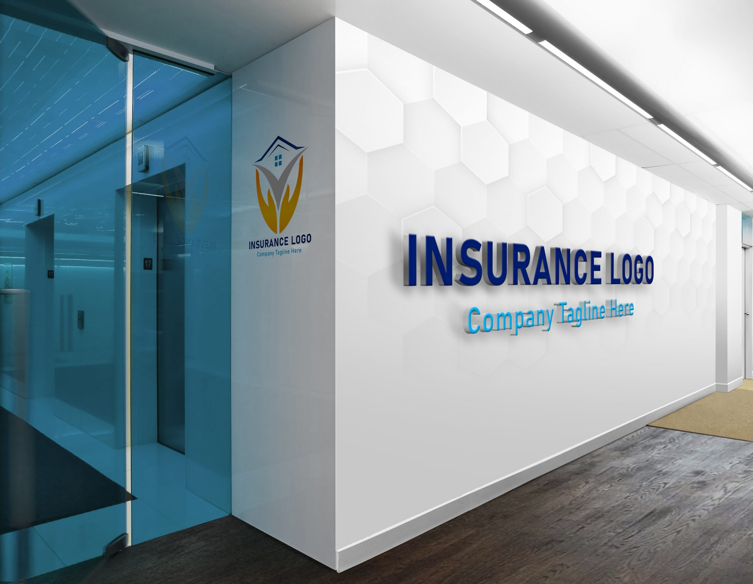 Finance & Insurance Logo Design on office wall