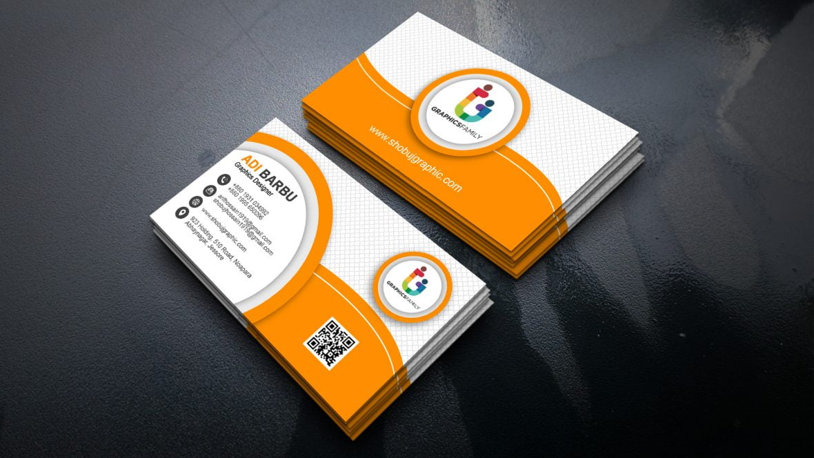 creative two sided business card design  graphicsfamily