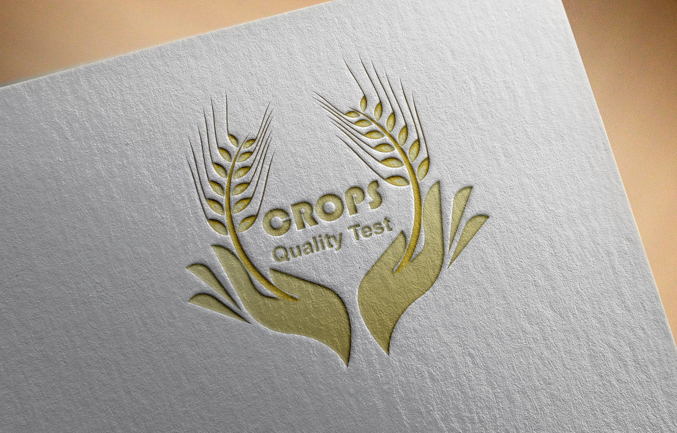 Free Psd Golden Food Logo Design Template