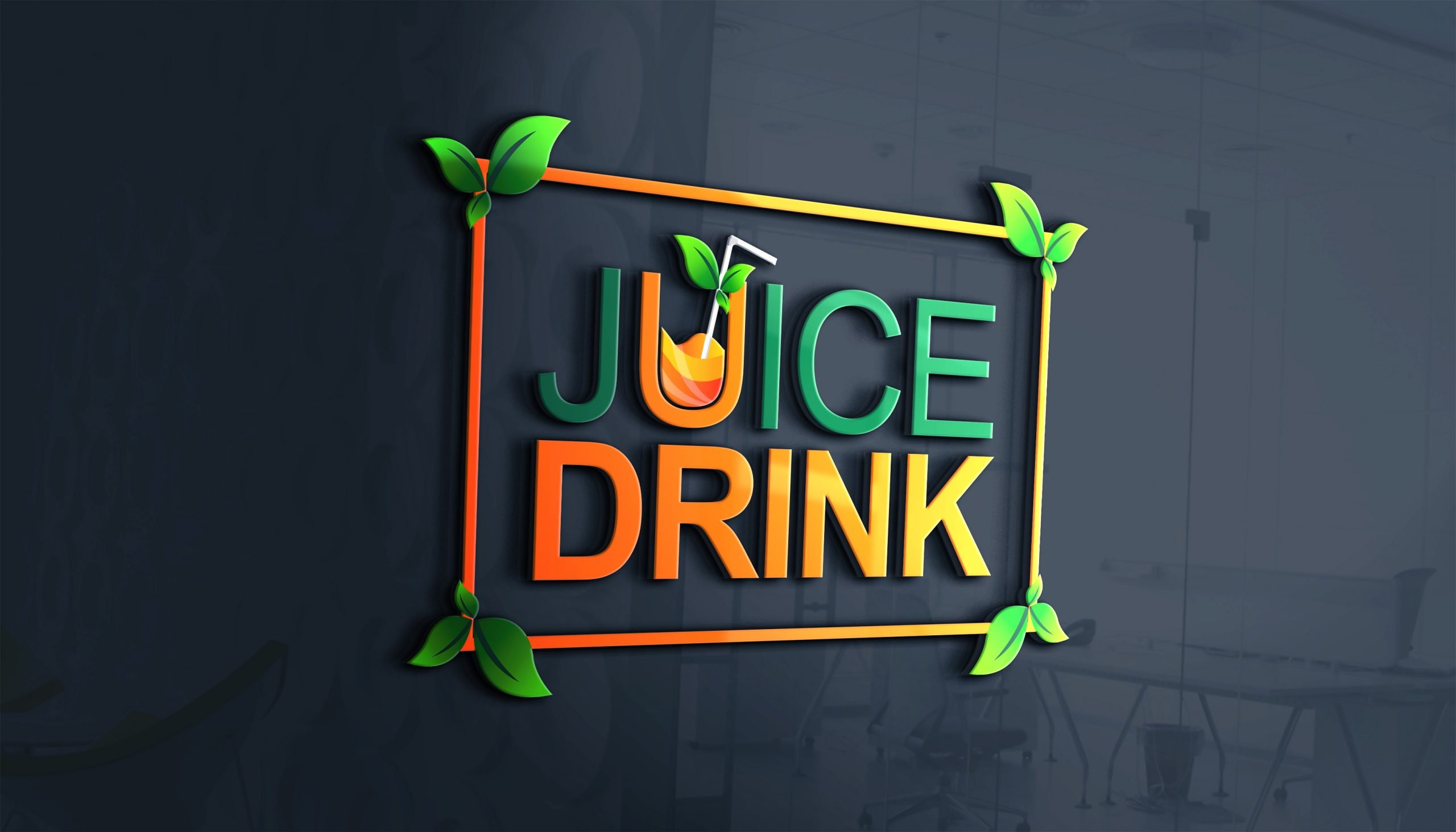 natural juice company logo design natural juice company logo design