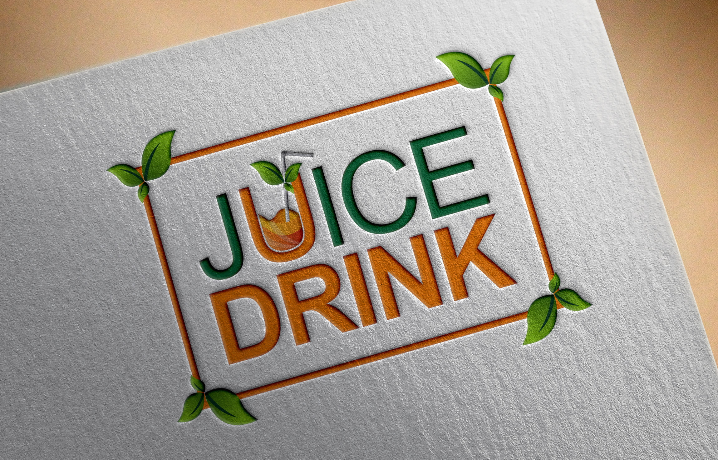 Free Psd Juice Drink Logo Design psd
