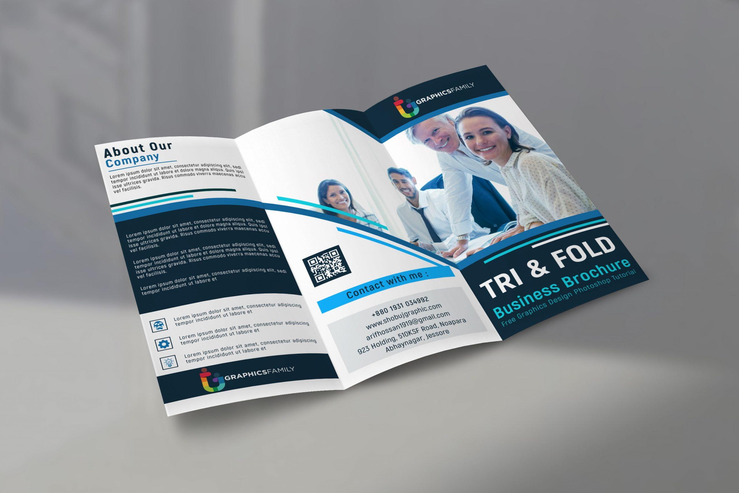 Free online specialist tri fold brochure template Design