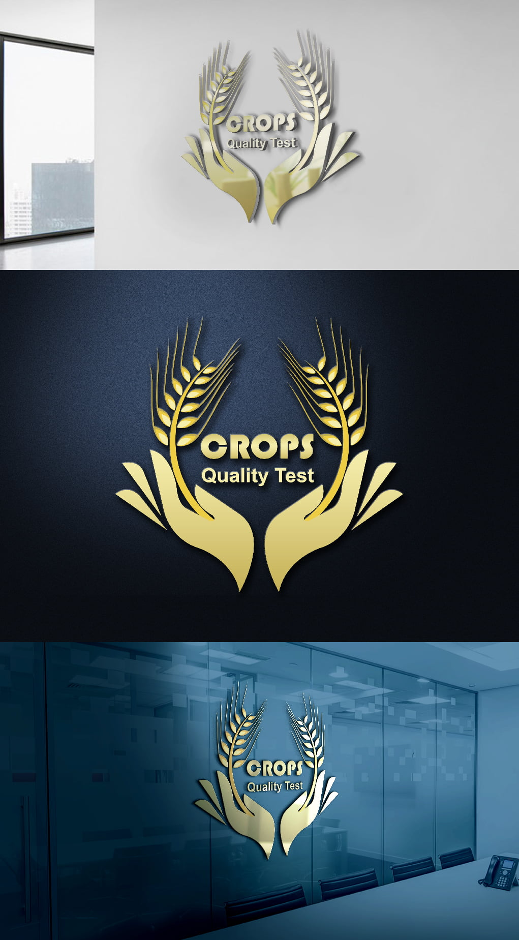 Free psd golden food logo template