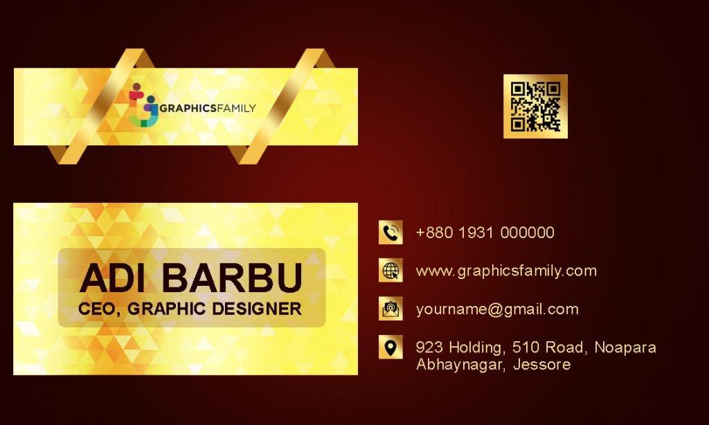 Graphic Designer Business Card Design Back Part