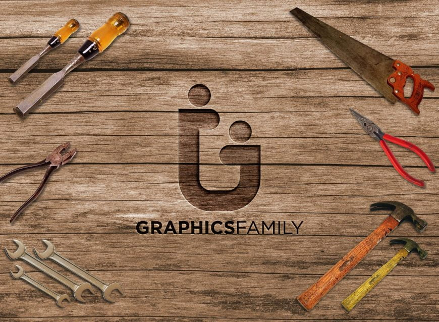 Graphicfamily-on-3d-wood
