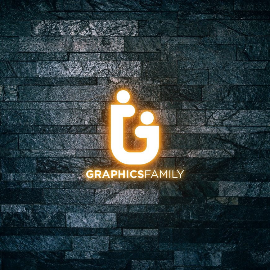 Graphicsfamily-Logo-on-Light-text-effect-3d-mockup-scaled