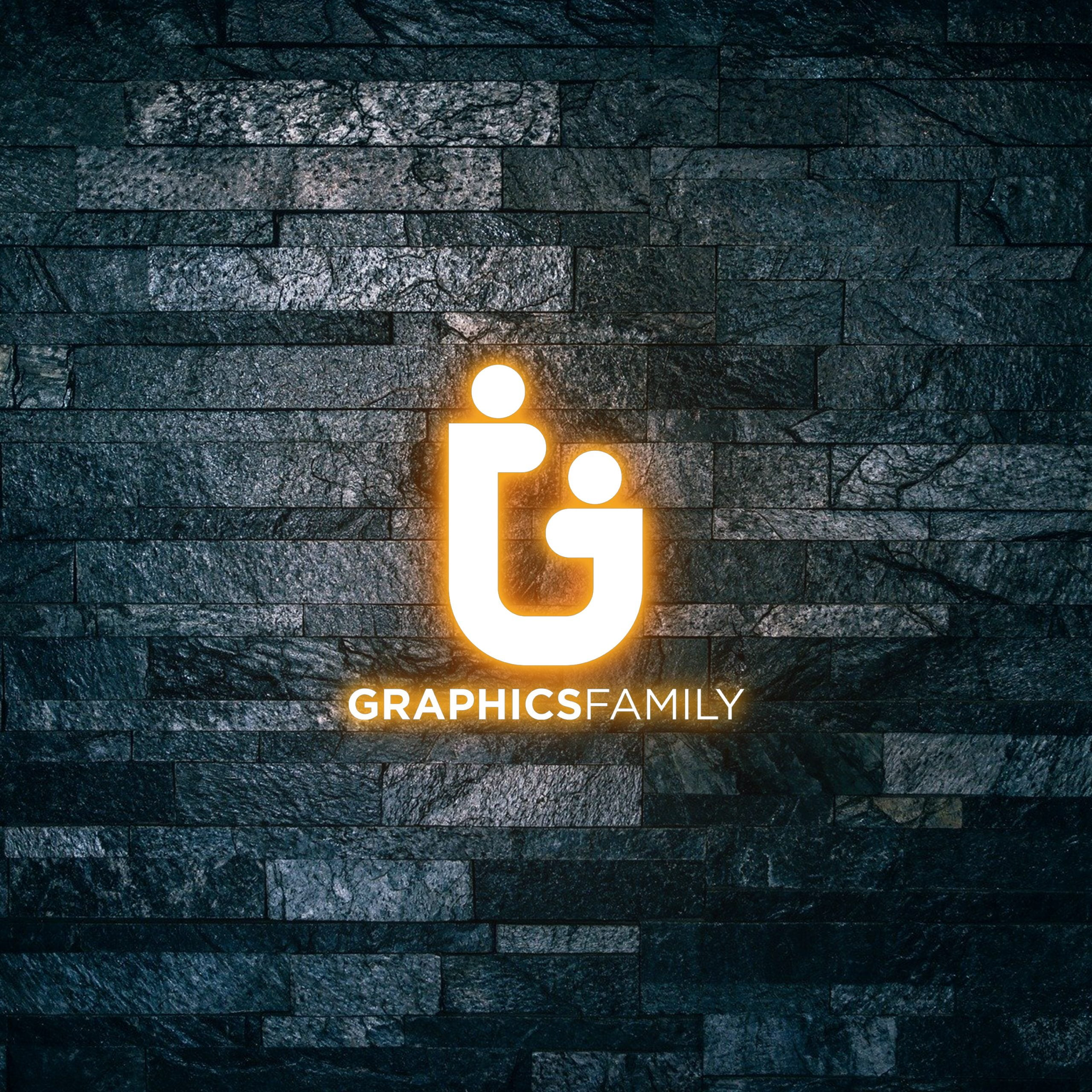 Graphicsfamily Logo on Light text effect 3d mockup