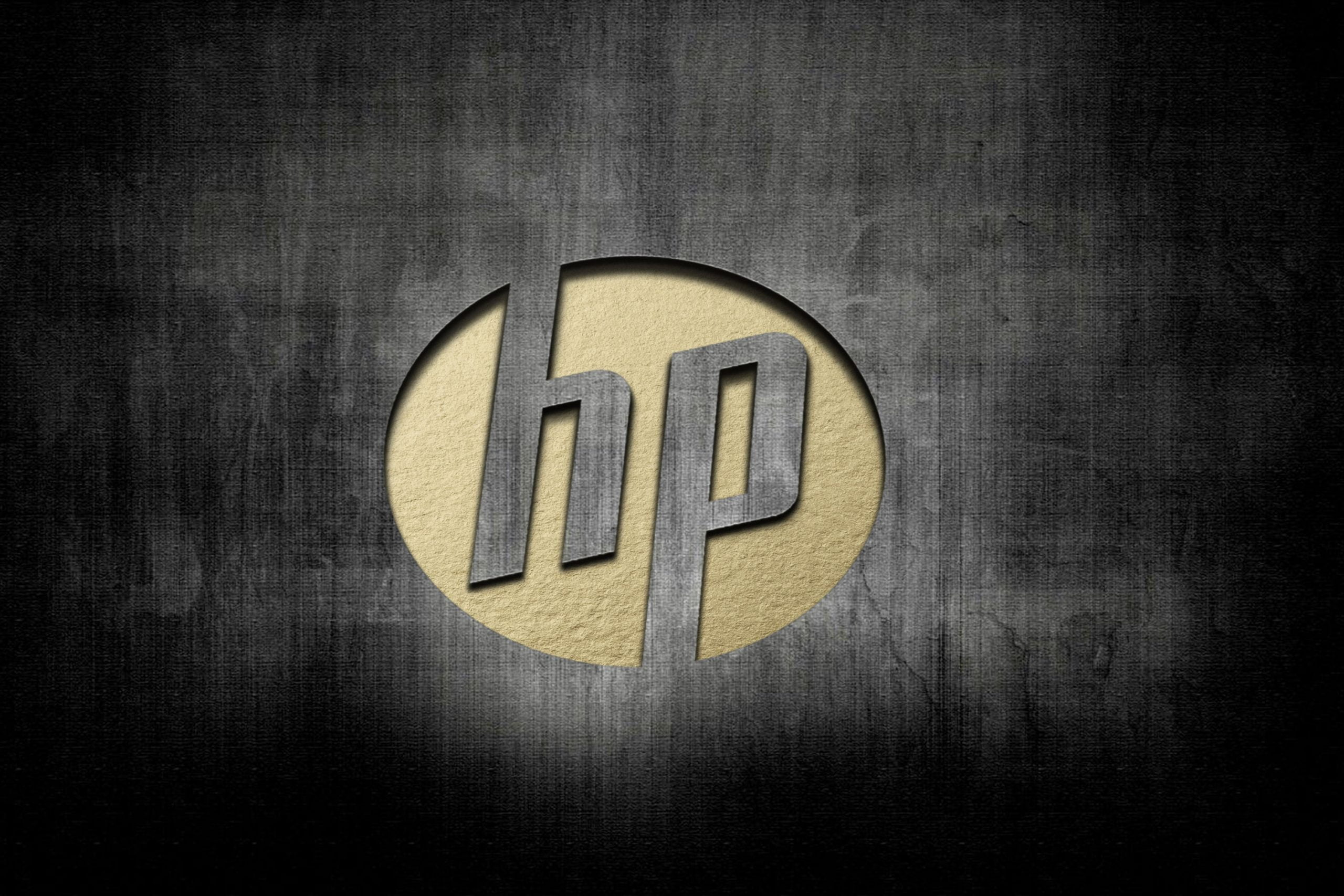 HP Logo Cut Artwork Logo Mockup