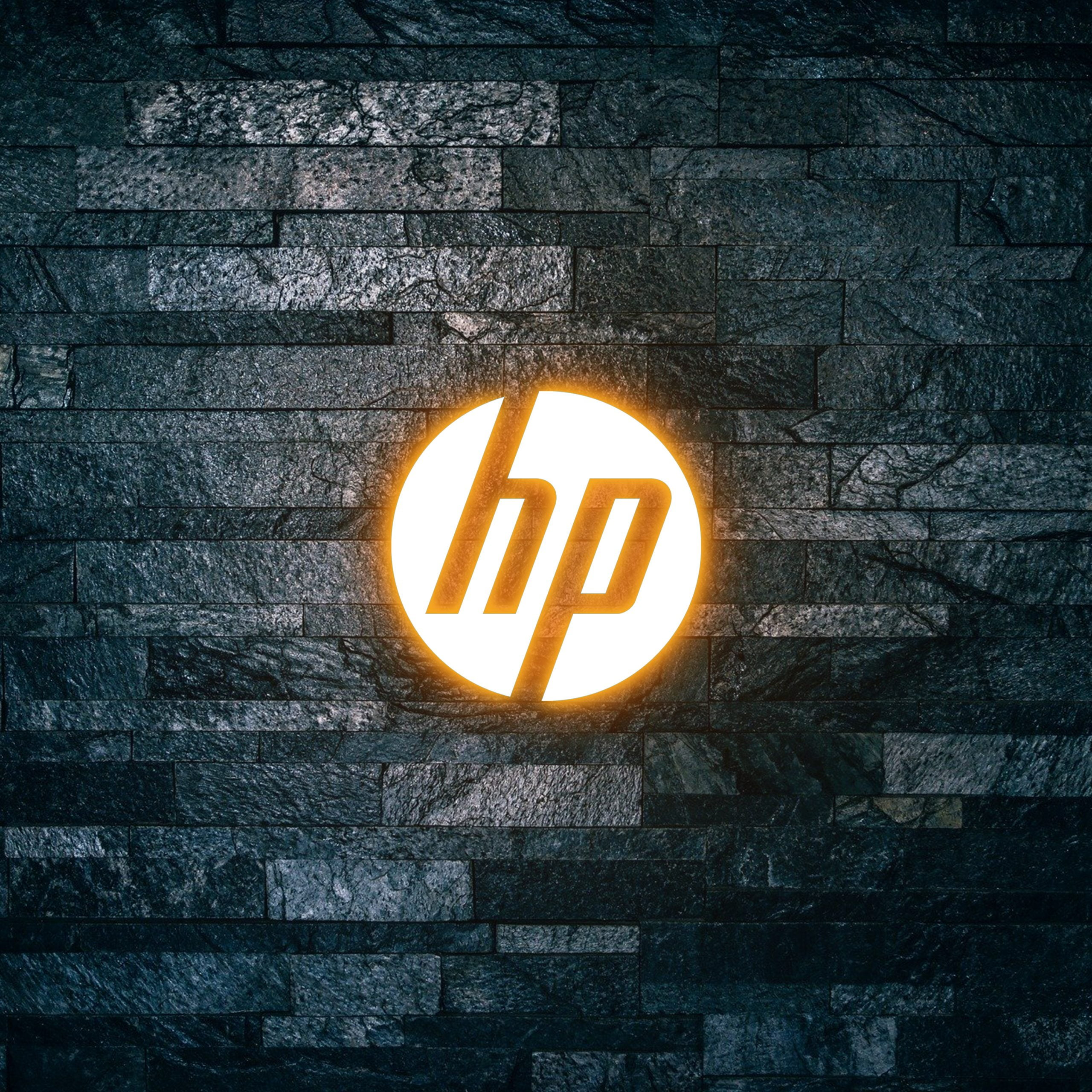 HP Logo on Light text effect 3d mockup