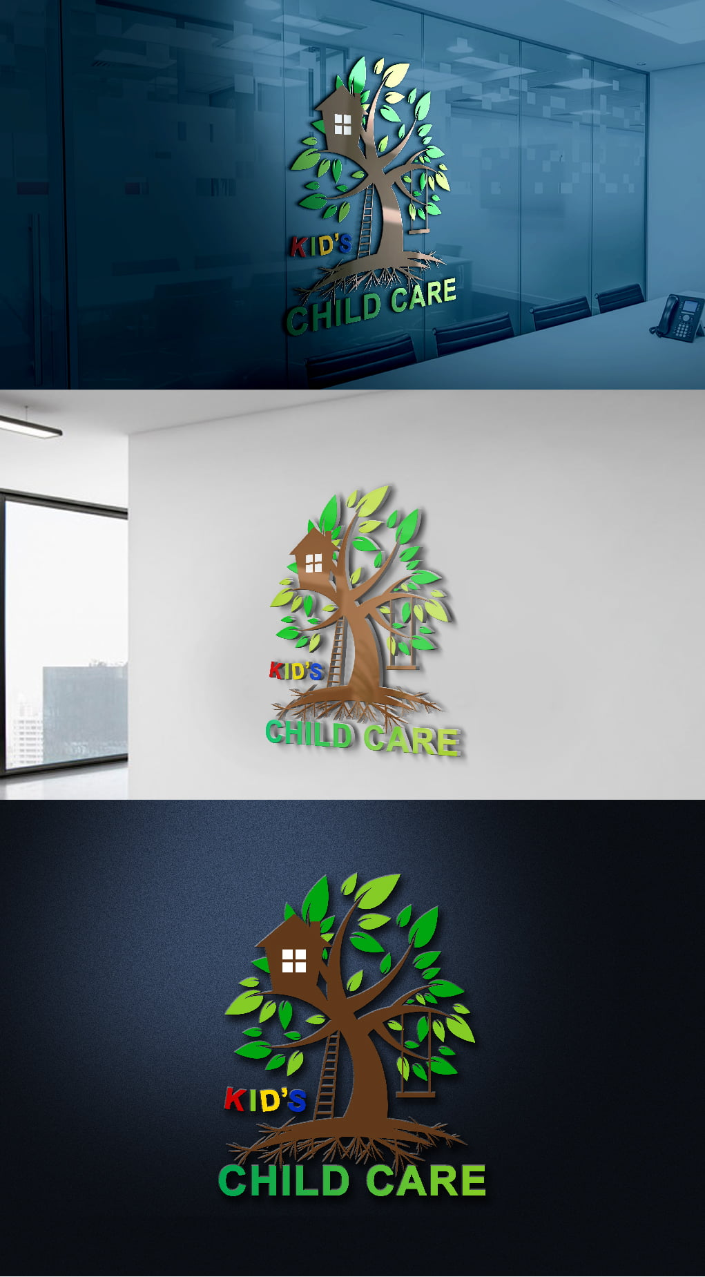 Kids child care logo template