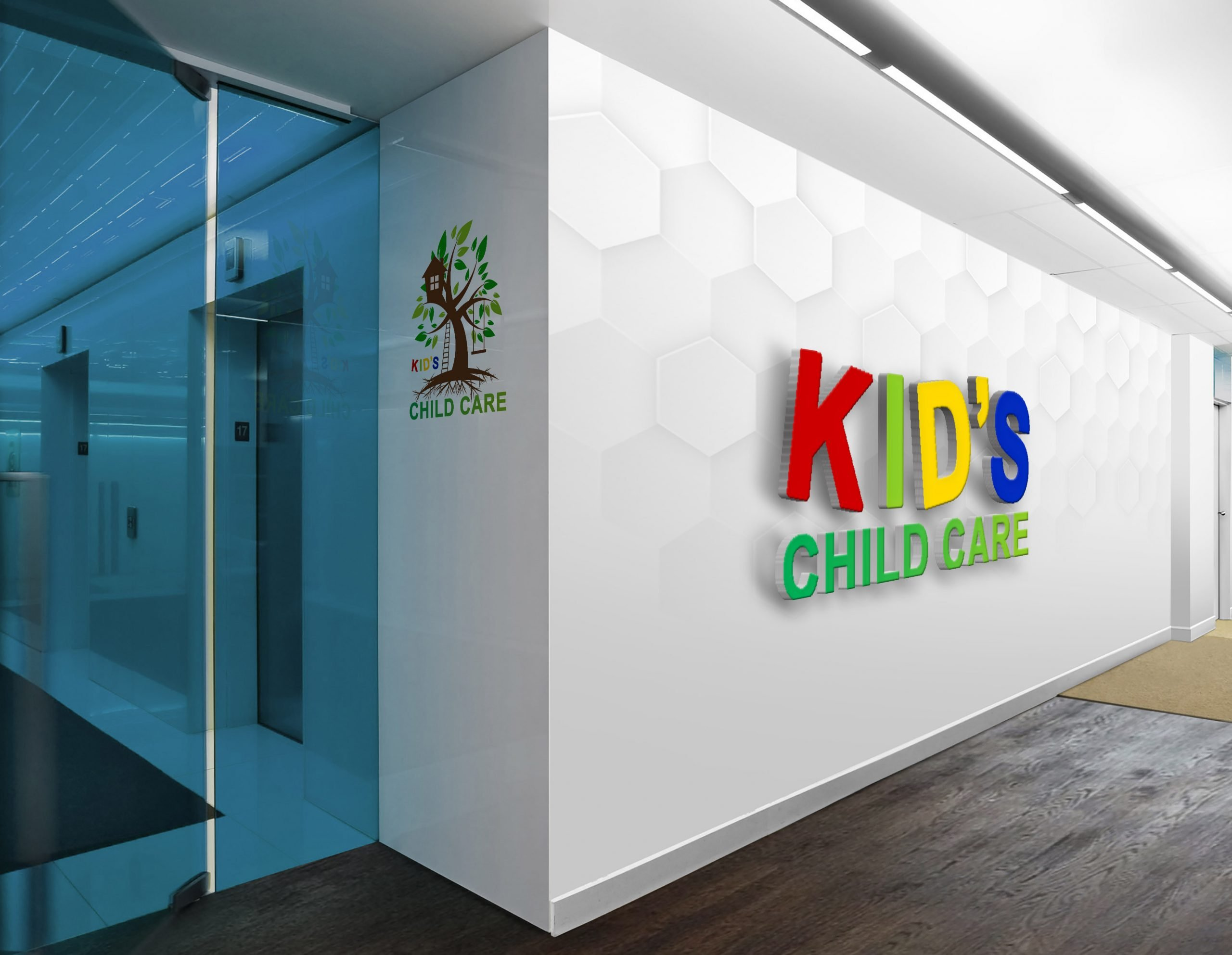 Logo Design for Child Care Company on wall