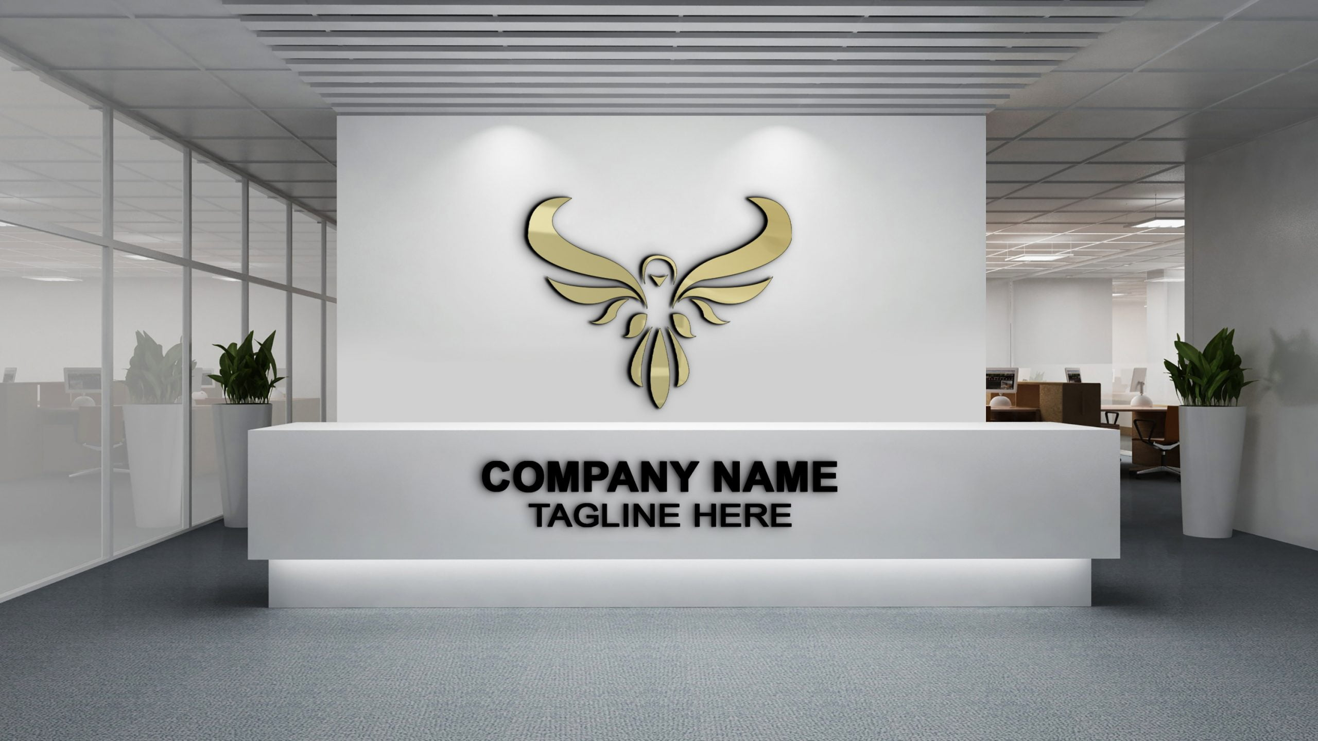 Luxury Logo on Office Wall