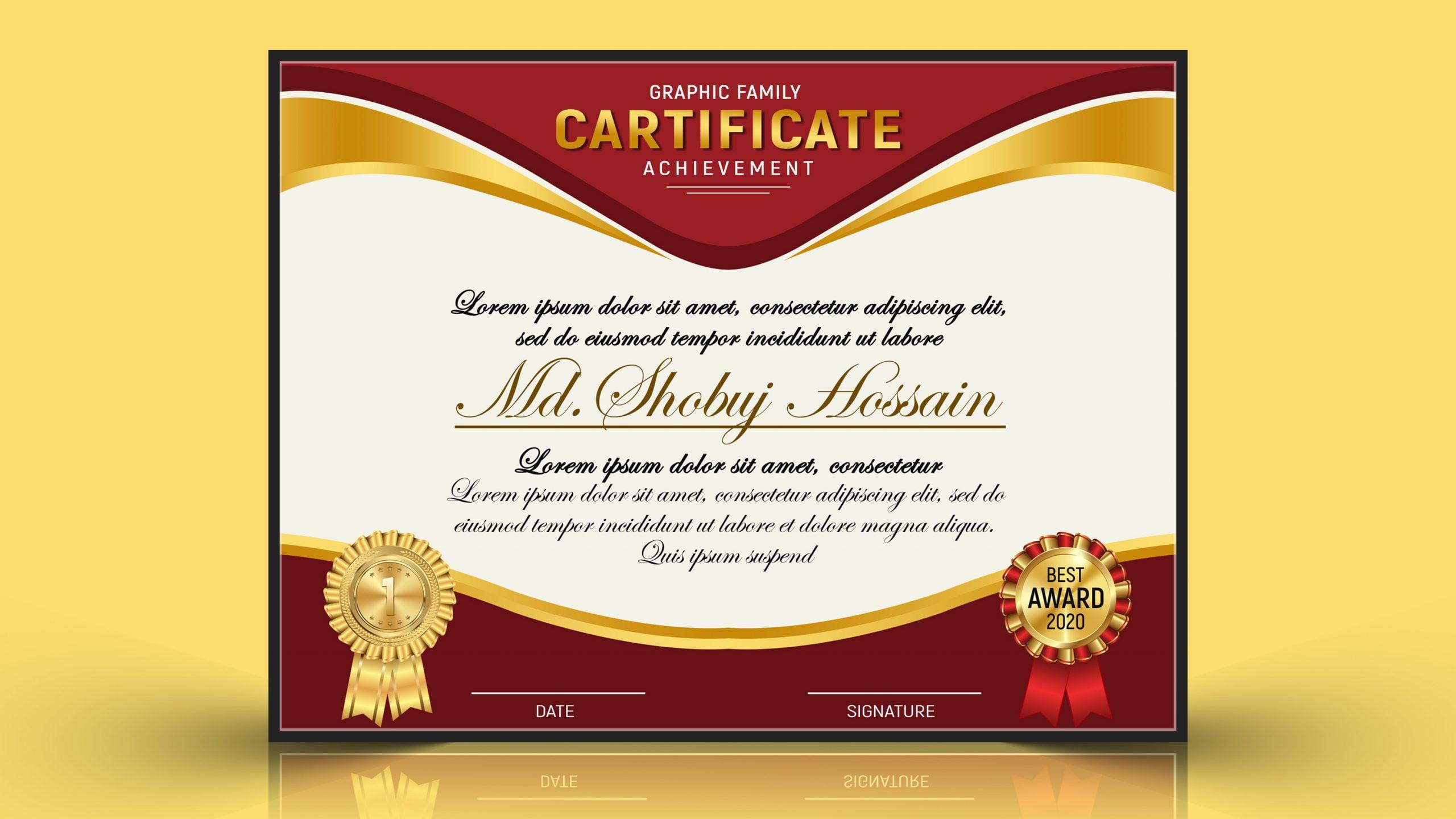 Modern Certificate design jpeg