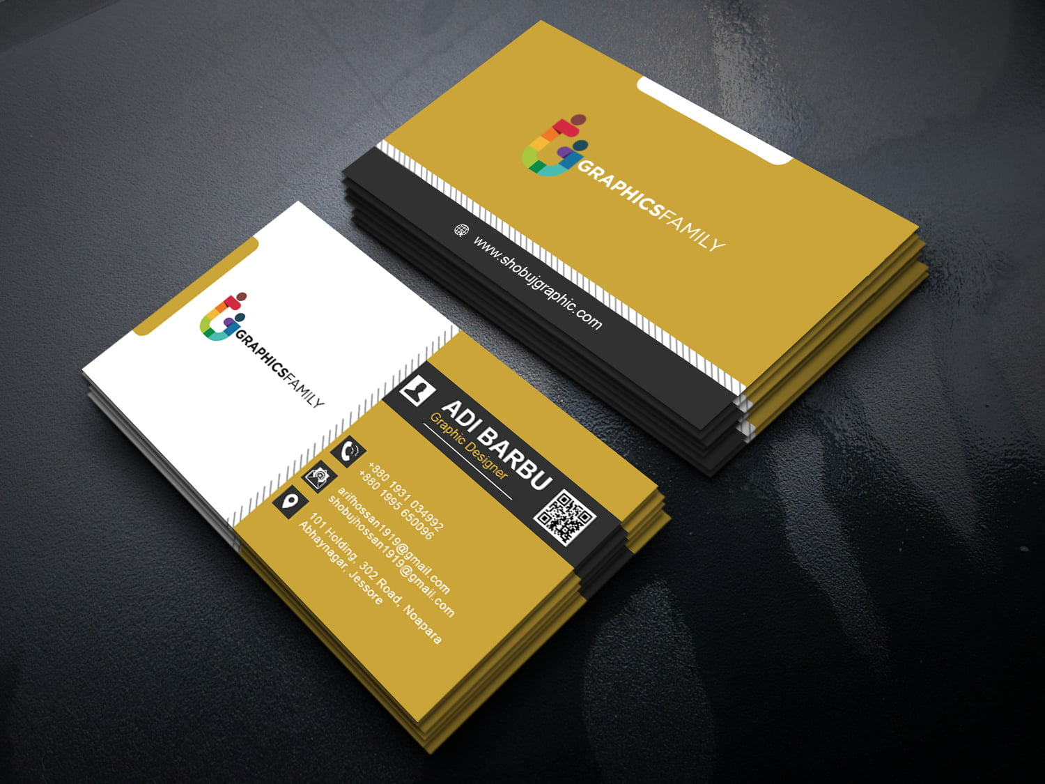 free photoshop modern and professional business card design