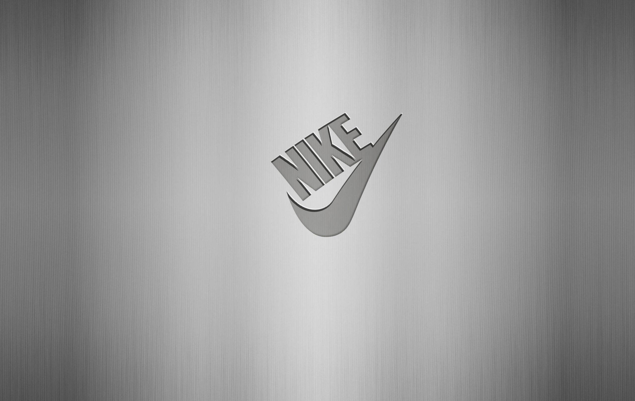 Nike Logo on Free Steel Logo Mockup