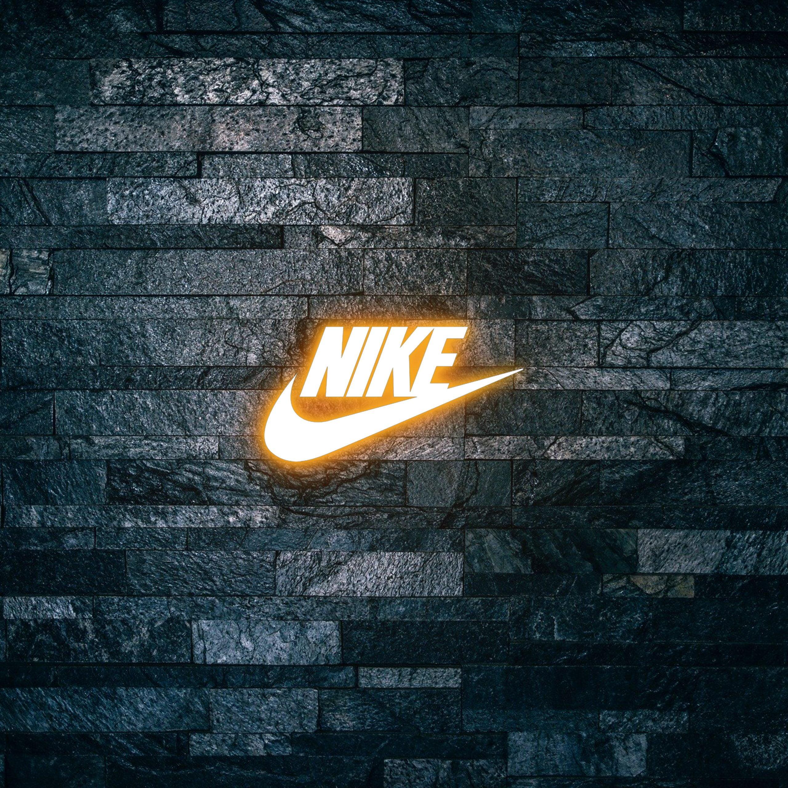 Nike Logo on Light text effect 3d mockup