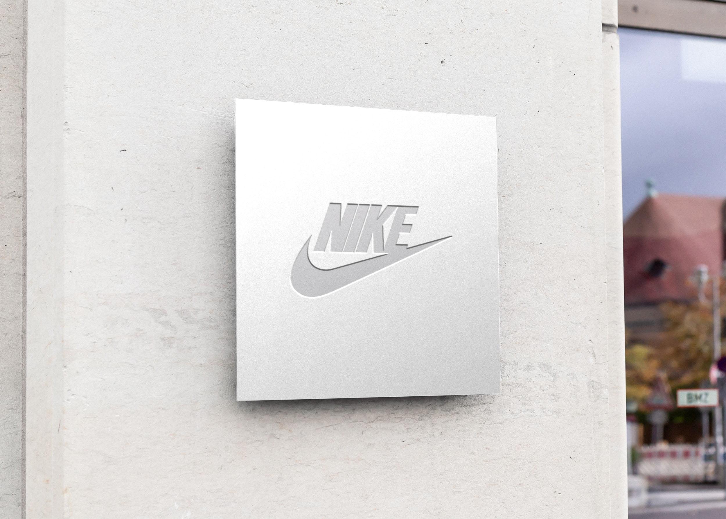 Nike on Free Square Sign Board Mockup