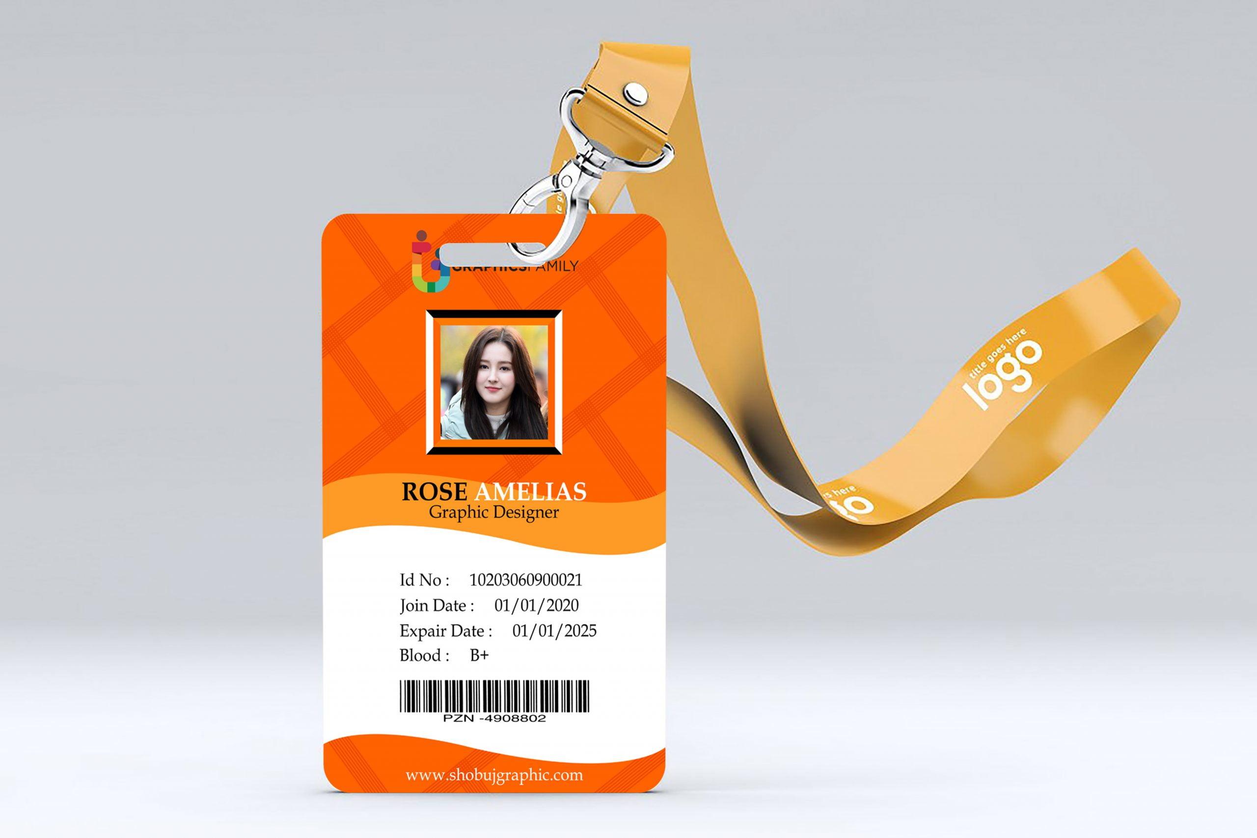 Online Marketing Id Card Design Free Template