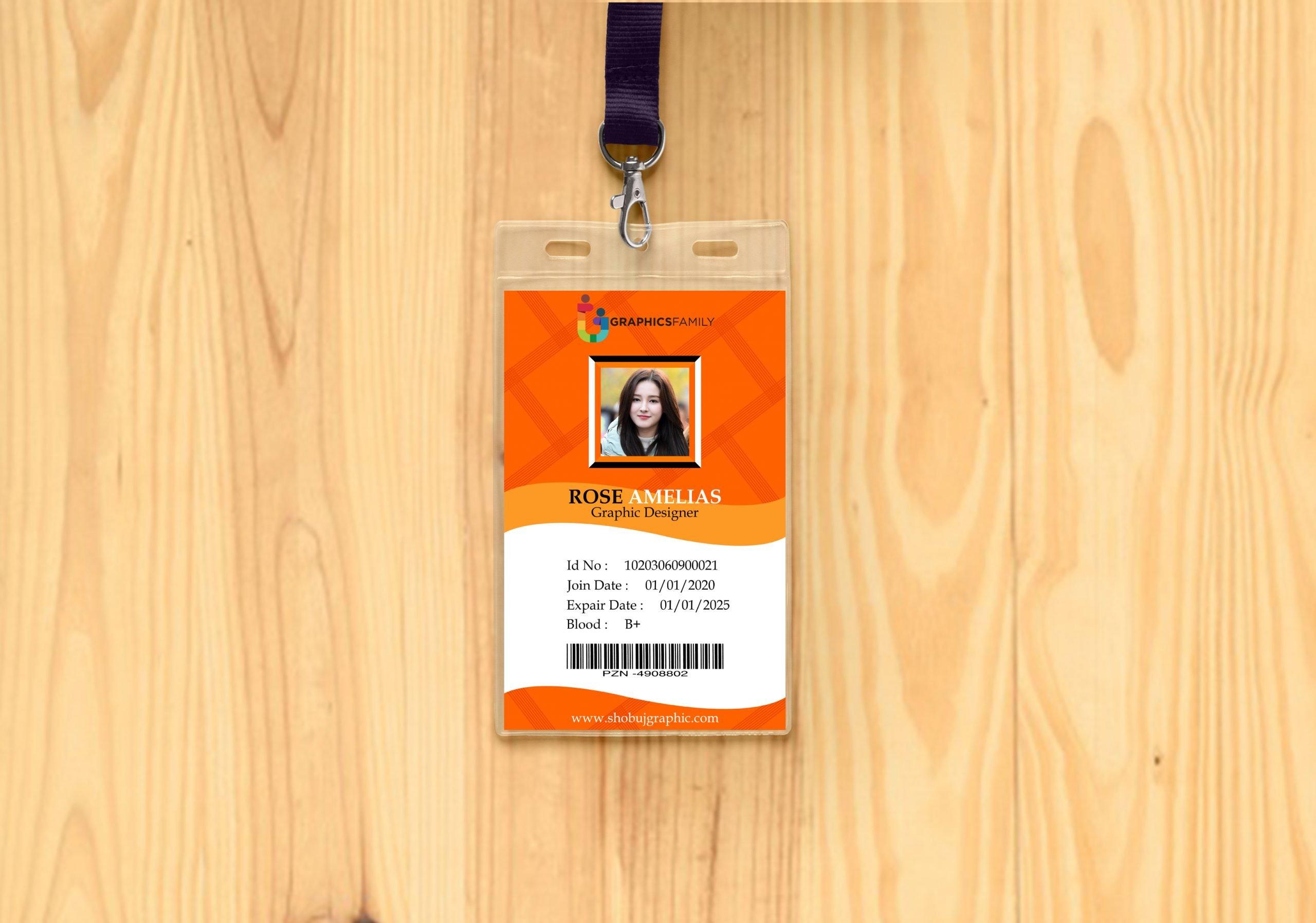 Online Marketing Id Card Design Free psd