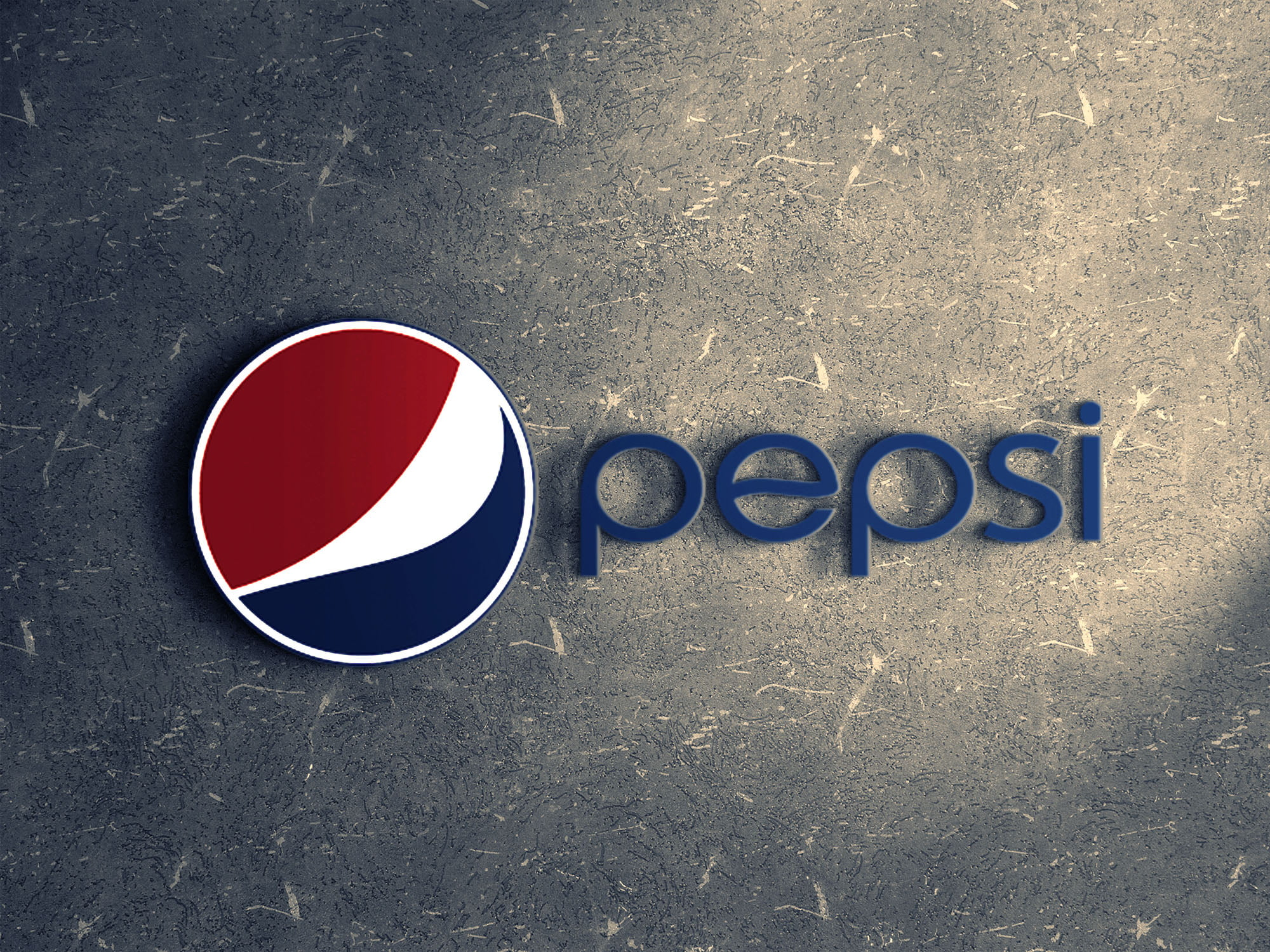 Pepsi on ceramic wall mockup