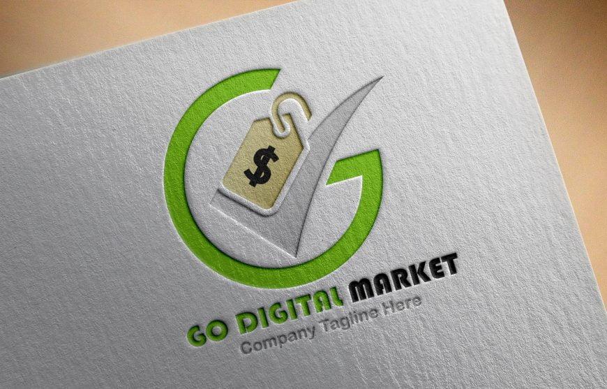 Professional Digital Market Logo Design Free psd