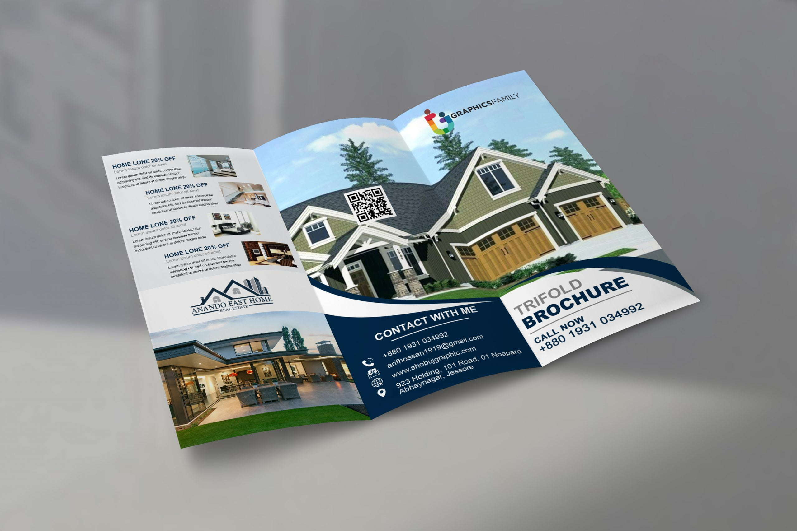 Real Estate Tri Fold Brochure In Photoshop Template