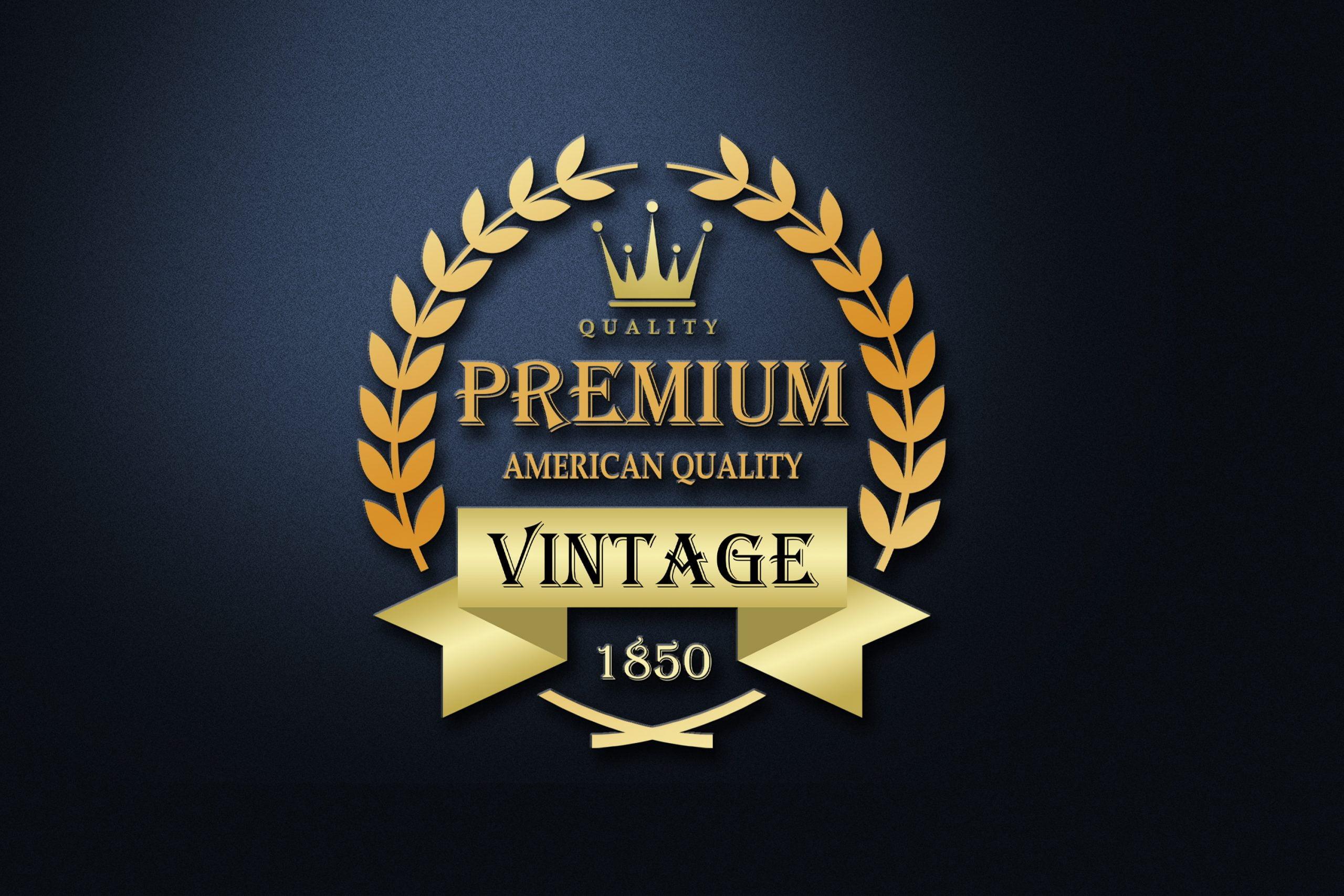 Vintage Logo Design 3d